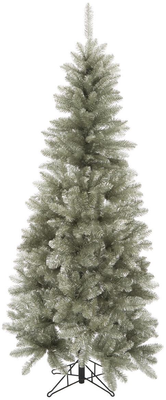 Künstlicher Weihnachtsbaum Colchester in Silber, Kunststoff (PVC), Platinfarben, Ø 84 x H 185 cm