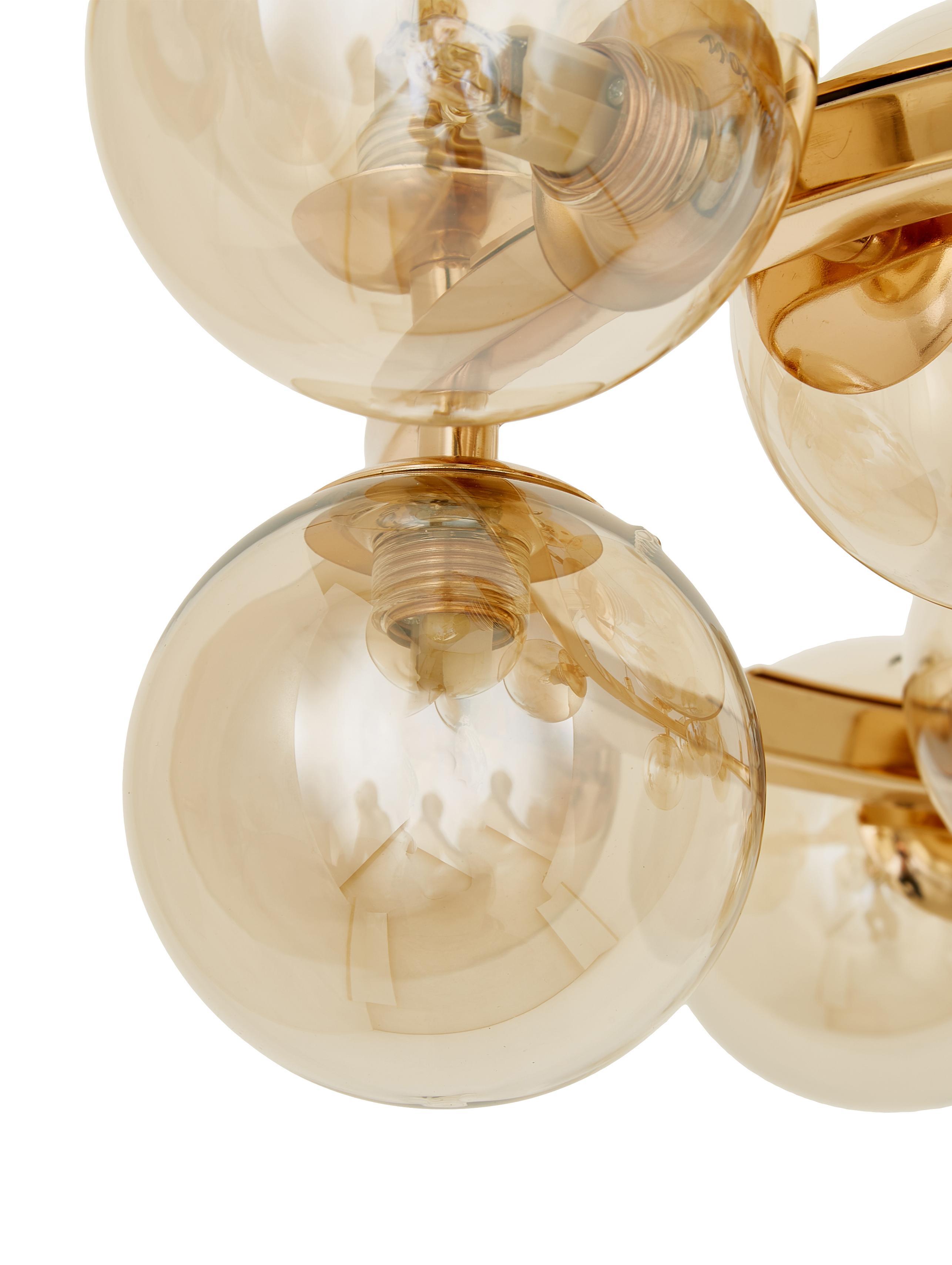 Lampada a sospensione con sfere di vetro Splendor, Rame, Ø 58 x Alt. 22 cm