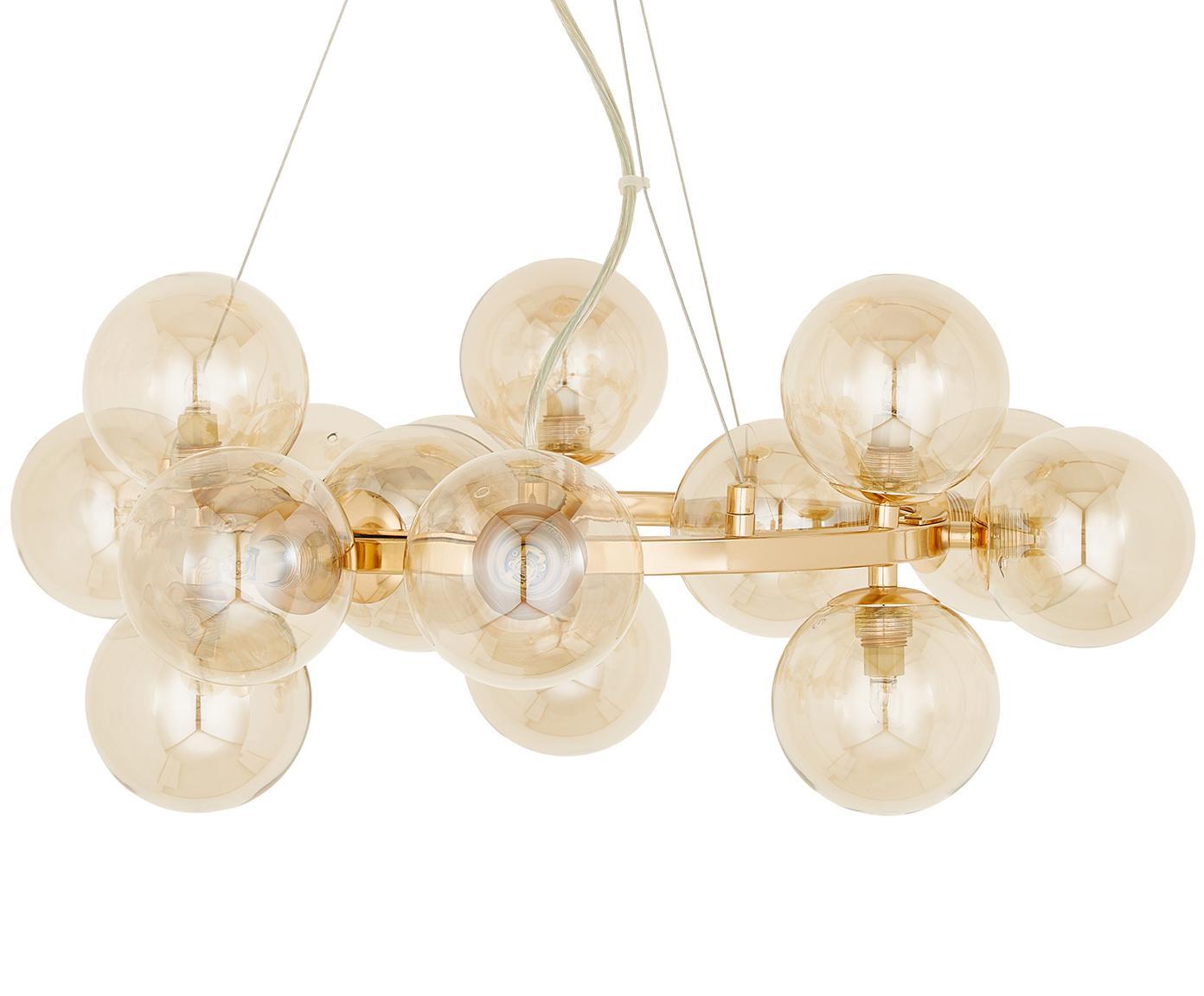 Glaskugel-Pendelleuchte Splendor, Kupferfarben, Ø 58 x H 22 cm