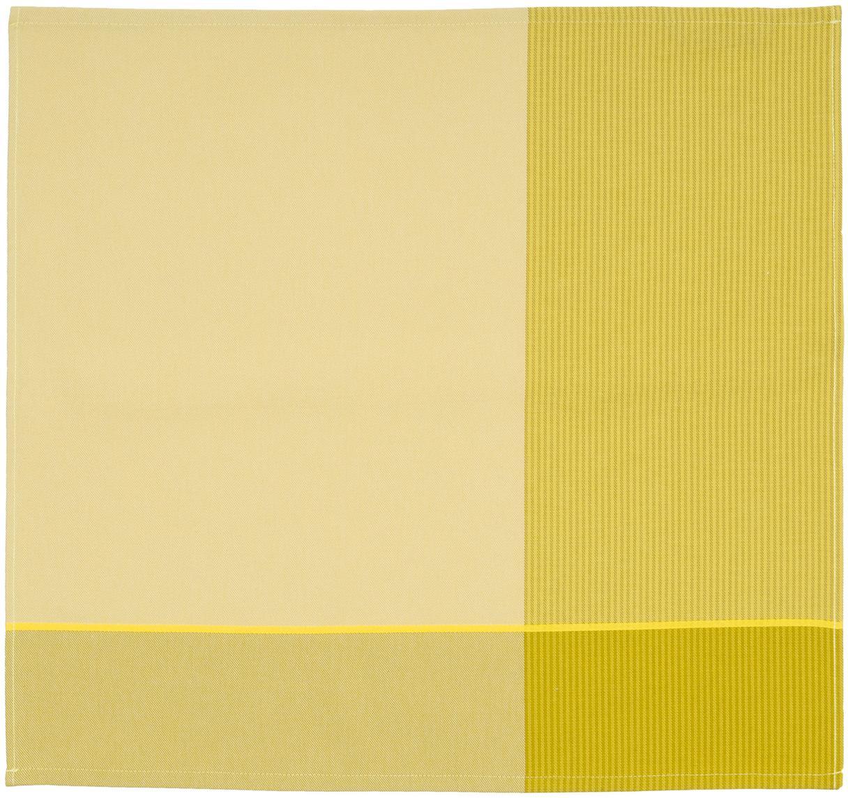 Geschirrtücher Blend in Gelb , 6 Stück, Baumwolle, Gelbtöne, 60 x 65 cm