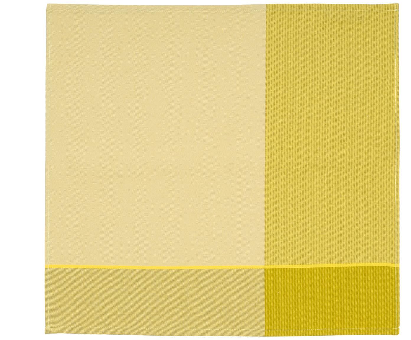 Theedoeken Blend, 6 stuks, Katoen, Geeltinten, 60 x 65 cm