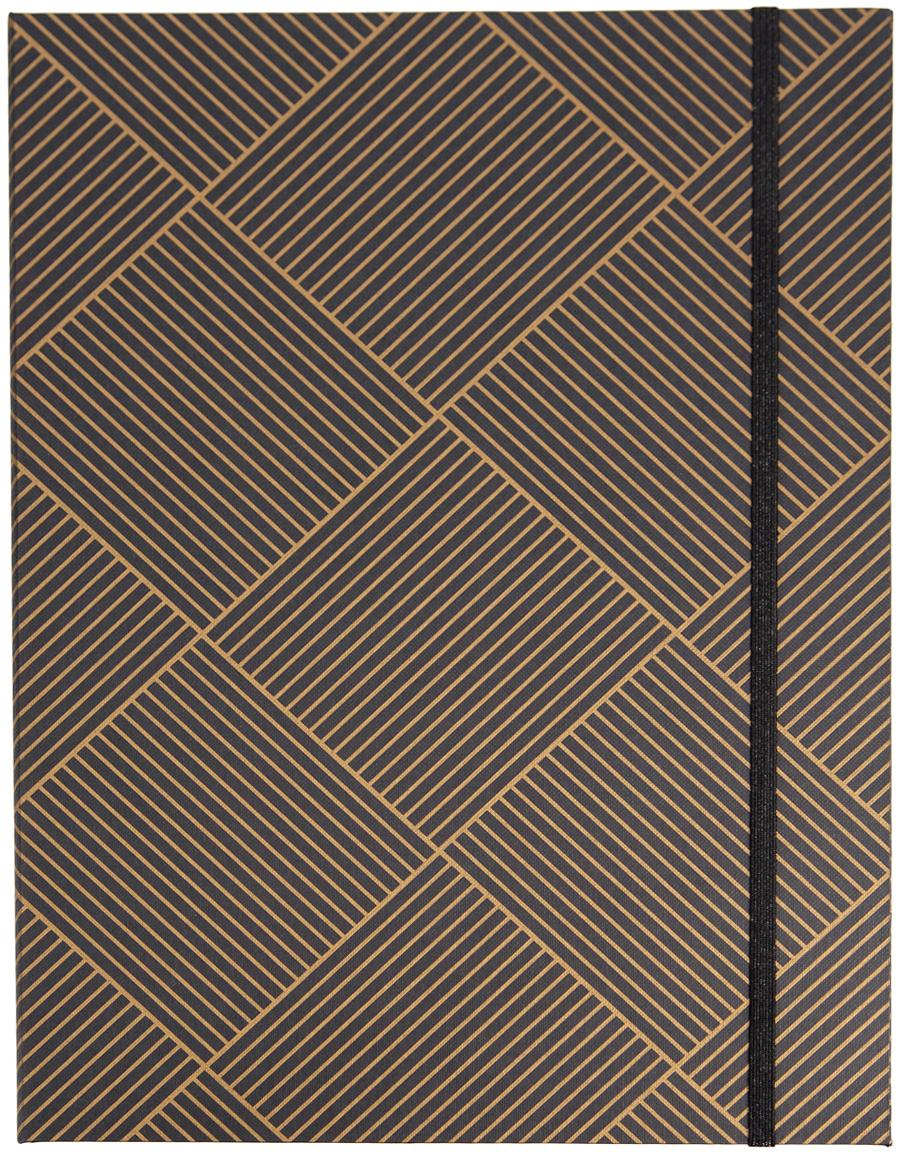 Raccoglitore Paulina, Dorato, grigio scuro, Larg. 23 x Alt. 32 cm