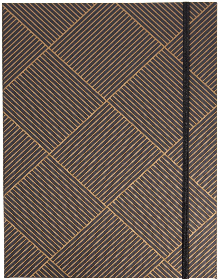 Sammelmappe Paulina, Goldfarben, Dunkelgrau, 23 x 32 cm