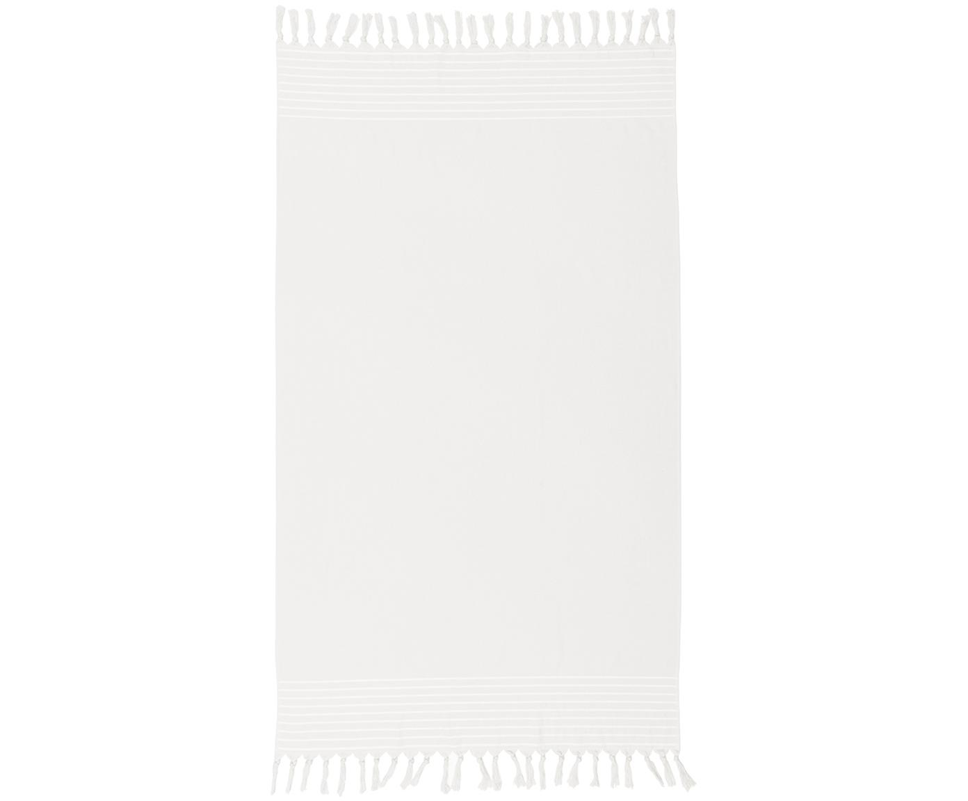 Fouta de felpa rizada Freddy, Parte trasera: felpa rizada, Blanco crema, An 100 x L 180 cm
