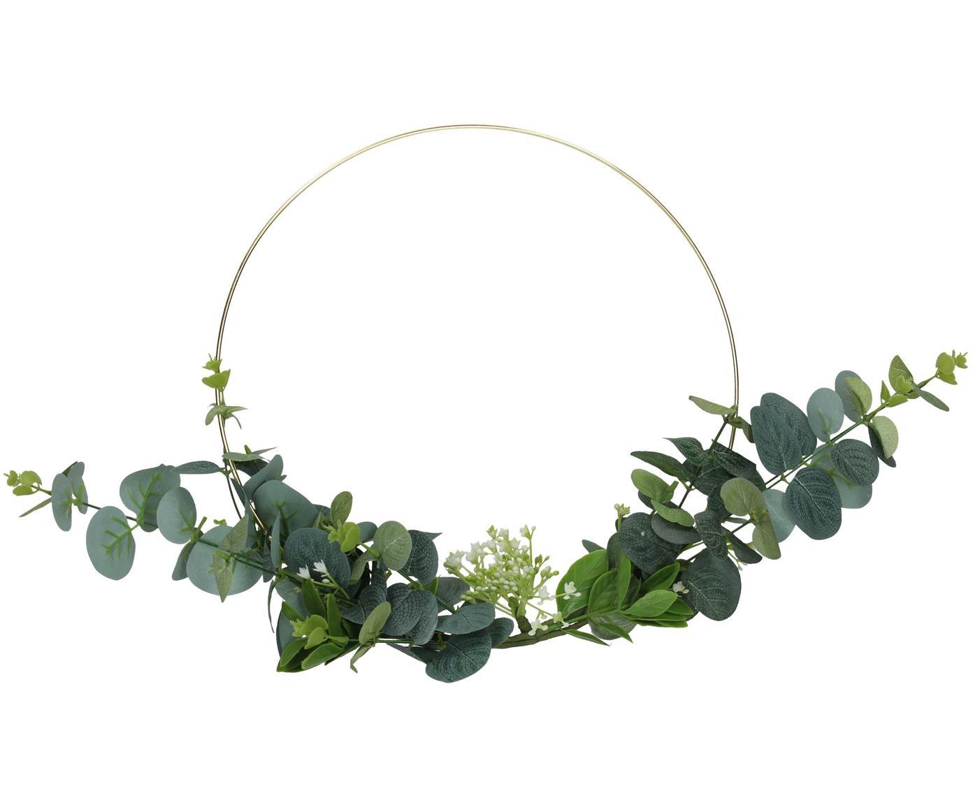 Decoratief object Eightmile, Decoratie: kunststof, Messingkleurig, groen, 30 x 30 cm