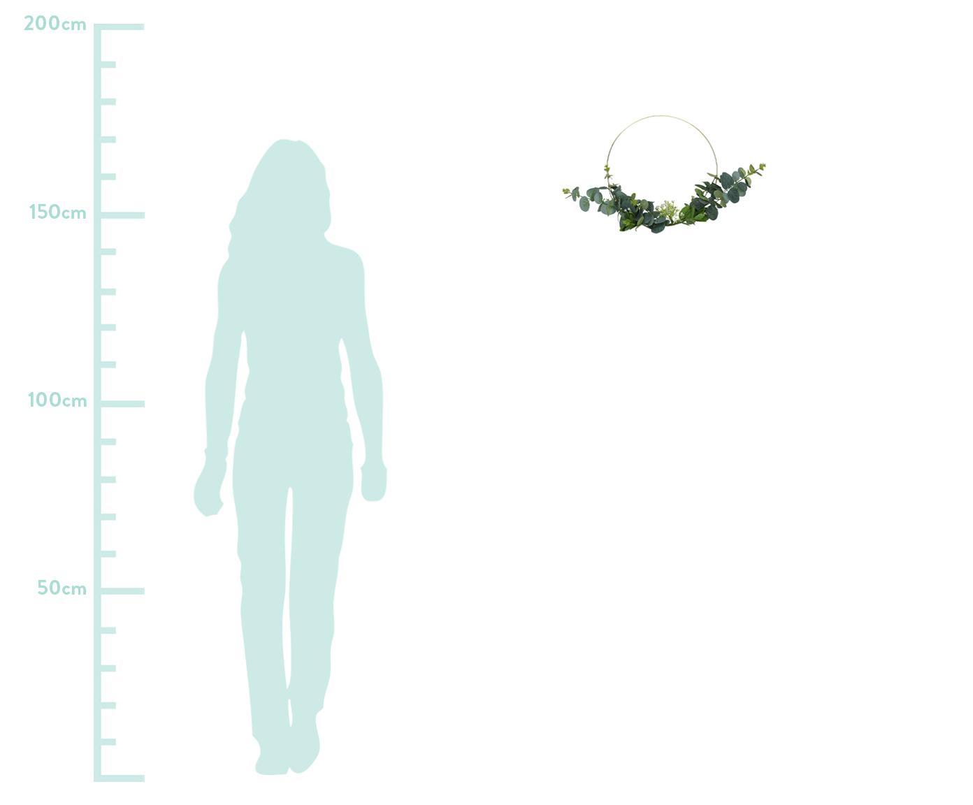 Dekoracja Eightmile, Odcienie mosiądzu, zielony, S 30 x W 30 cm
