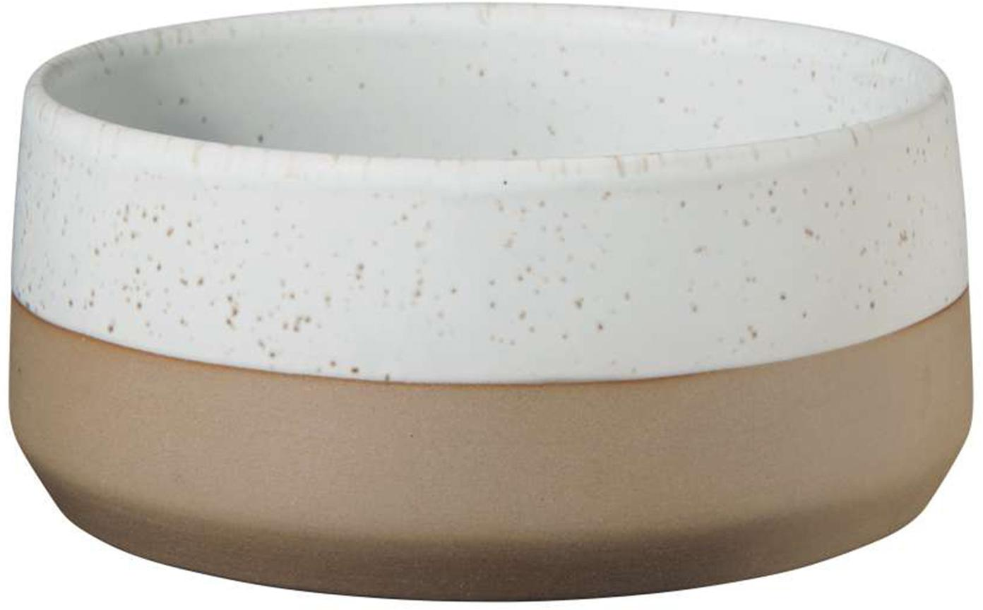 Kommen Caja mat in bruin- en beigetinten, 2 stuks, Klei, Bruin- en beigetinten, Ø 14 cm