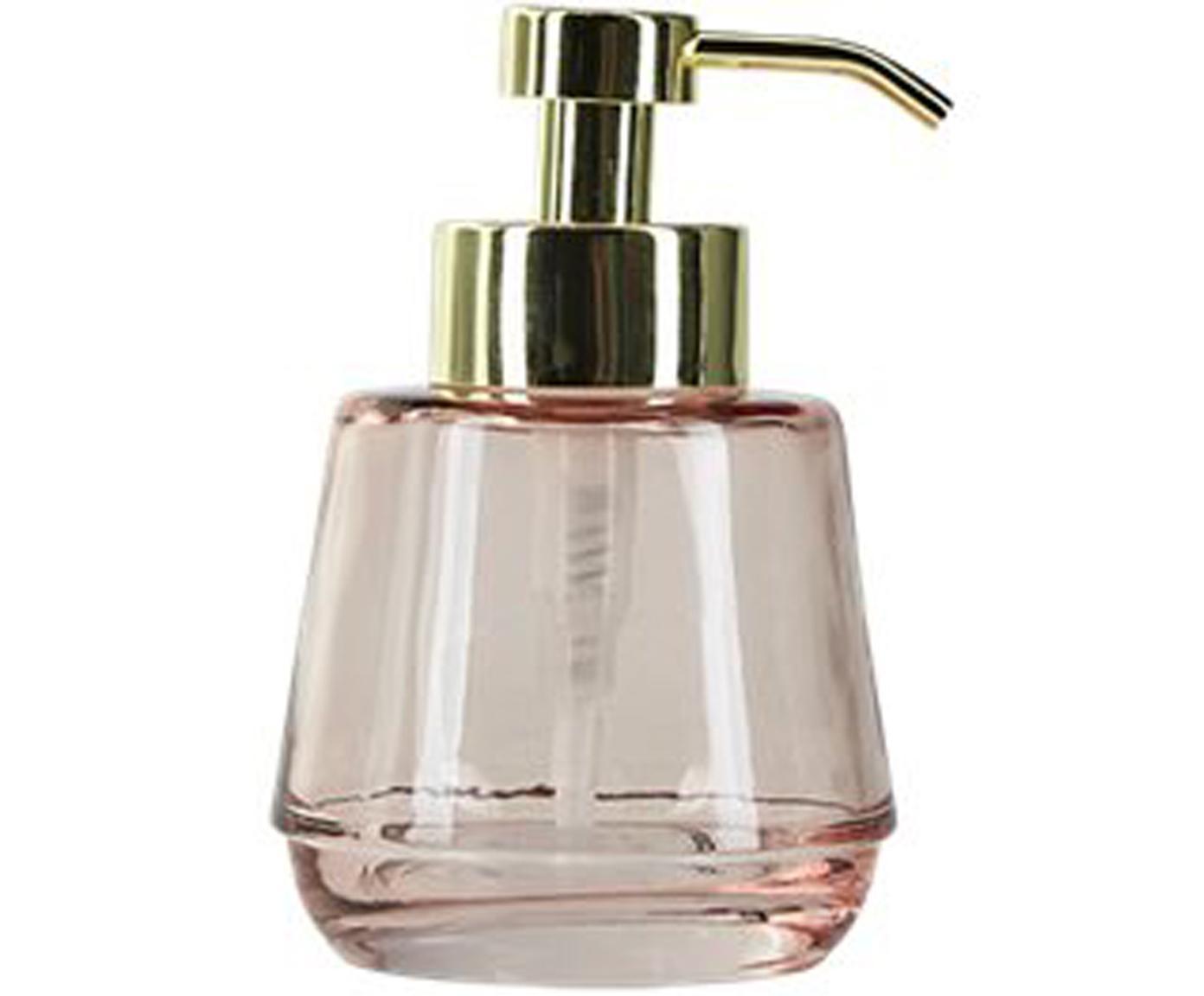 Dozownik do mydła Lushi, Blady różowy, transparentny, Ø 7 x W 15 cm