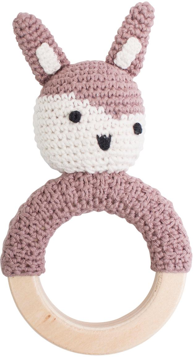 Chwytak Siggy, Tapicerka: bawełna, Blady różowy, biały, czarny, S 8 x W 15 cm
