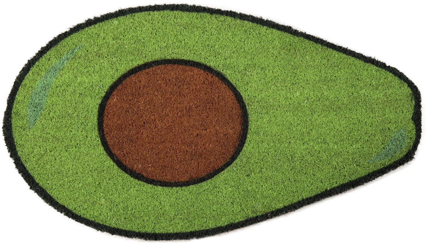 Wycieraczka Avocado, Zielony, brązowy, czarny, S 40 x D 70 cm