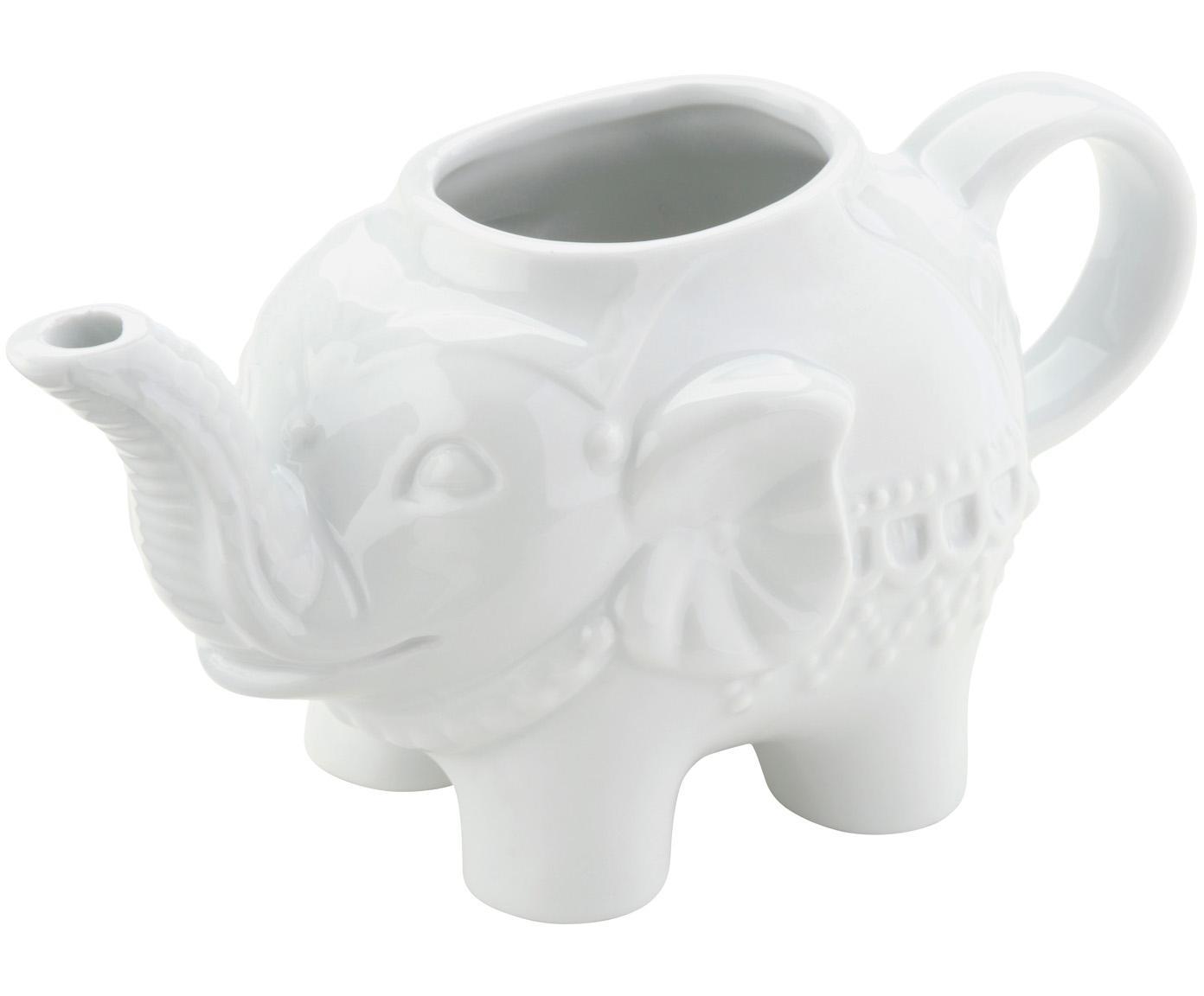Lechera Elephant, Porcelana, Blanco, An 15 x Al 8 cm