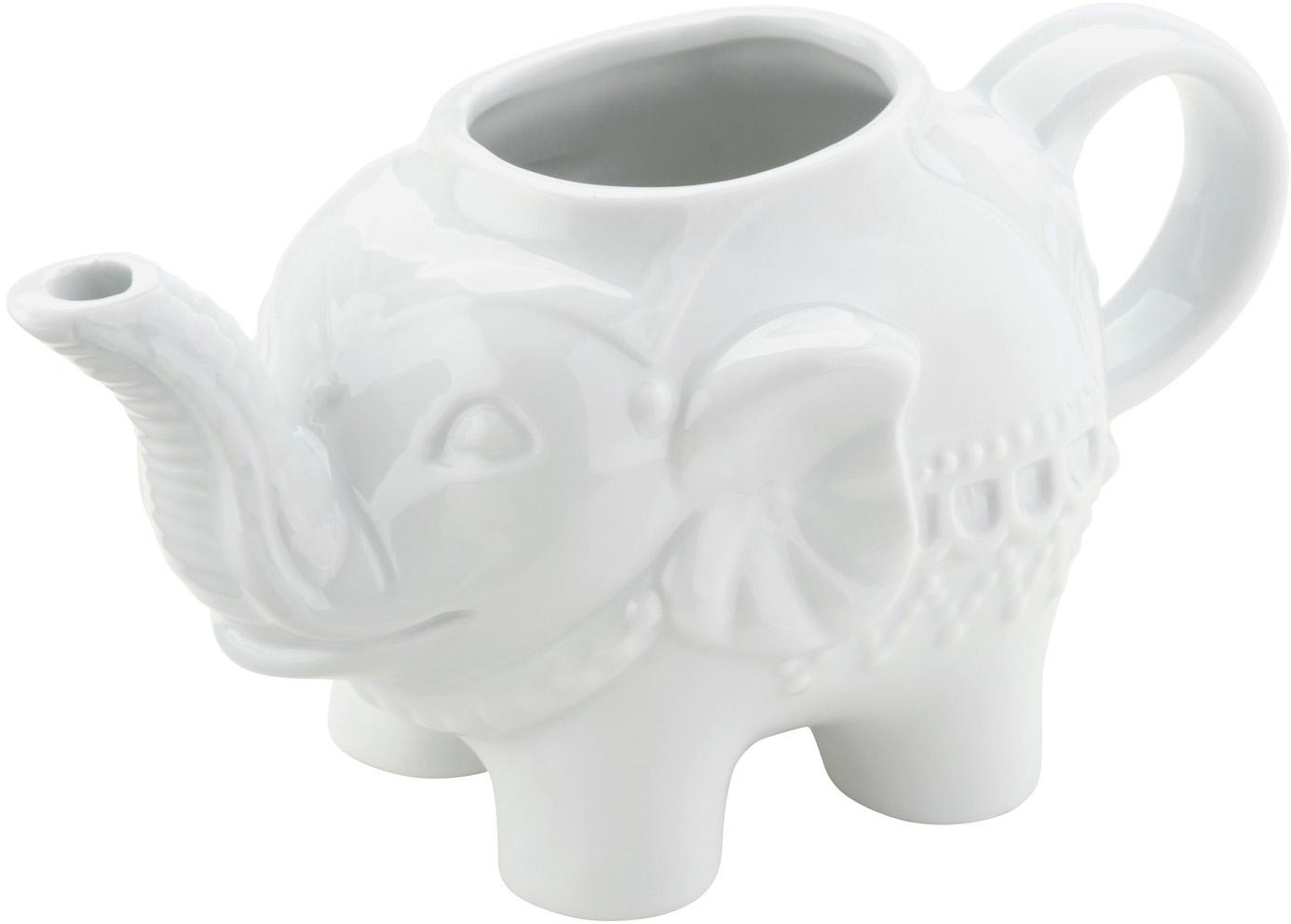Brocca da latte Elephant, Porcellana, Bianco, L 15 x A 8 cm