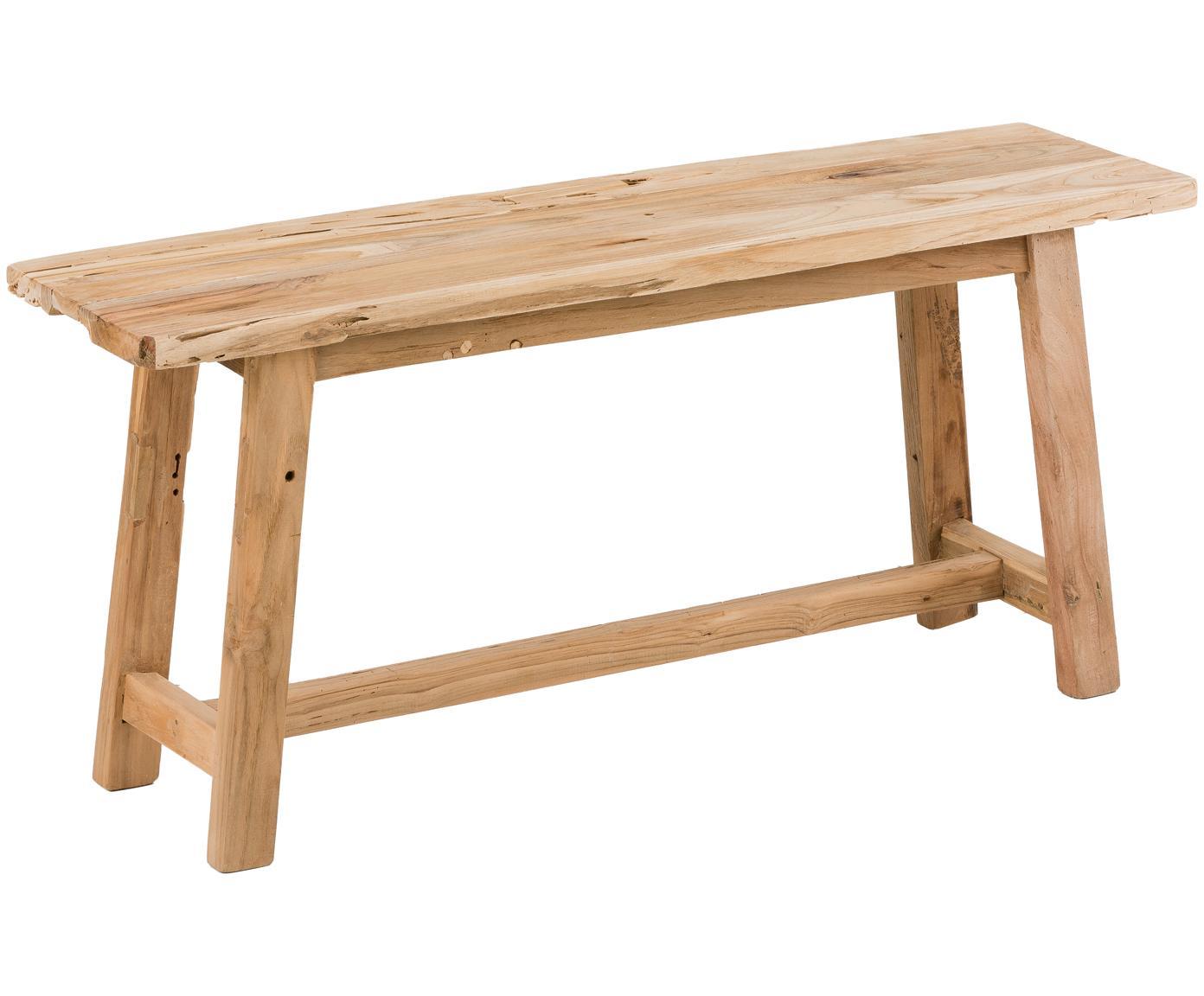Ławka z drewna tekowego Lawas, Naturalne drewno tekowe, Drewno tekowe, 100 x 46 cm