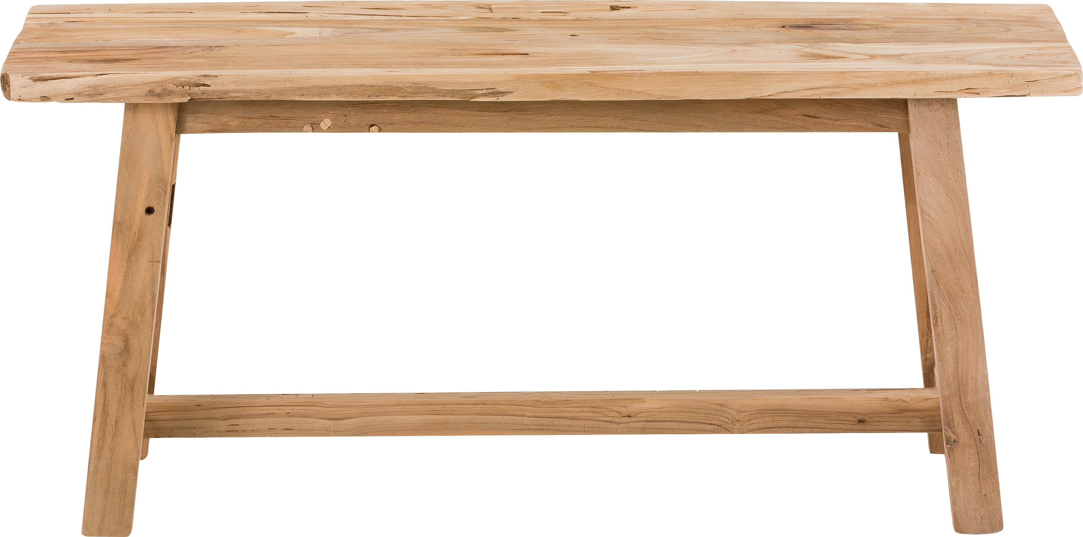 Houten bankje Lawas, Natuurlijk teakhout, Teakhoutkleurig, 100 x 46 cm