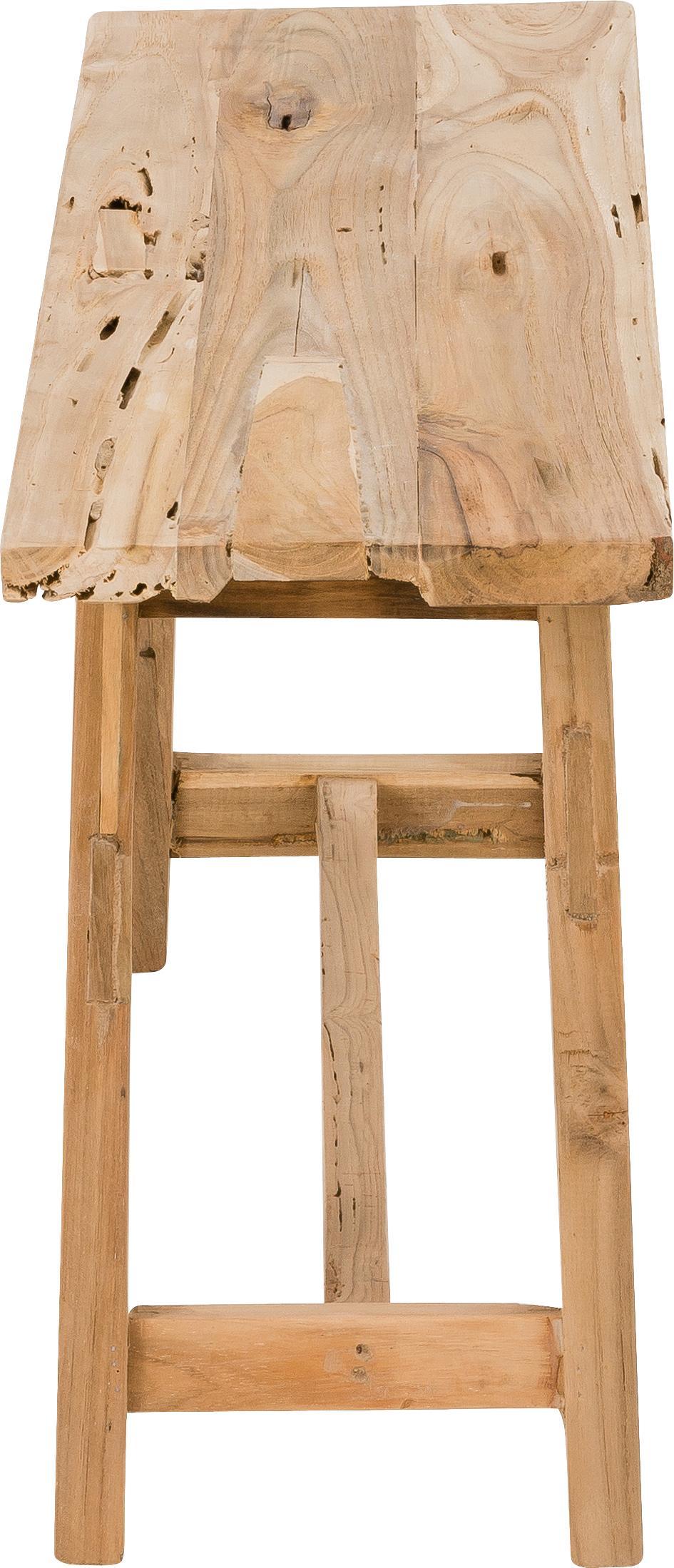 Panca in legno Lawas, Legno di teak, finitura naturale, Teak, Larg. 100 x Alt. 46 cm
