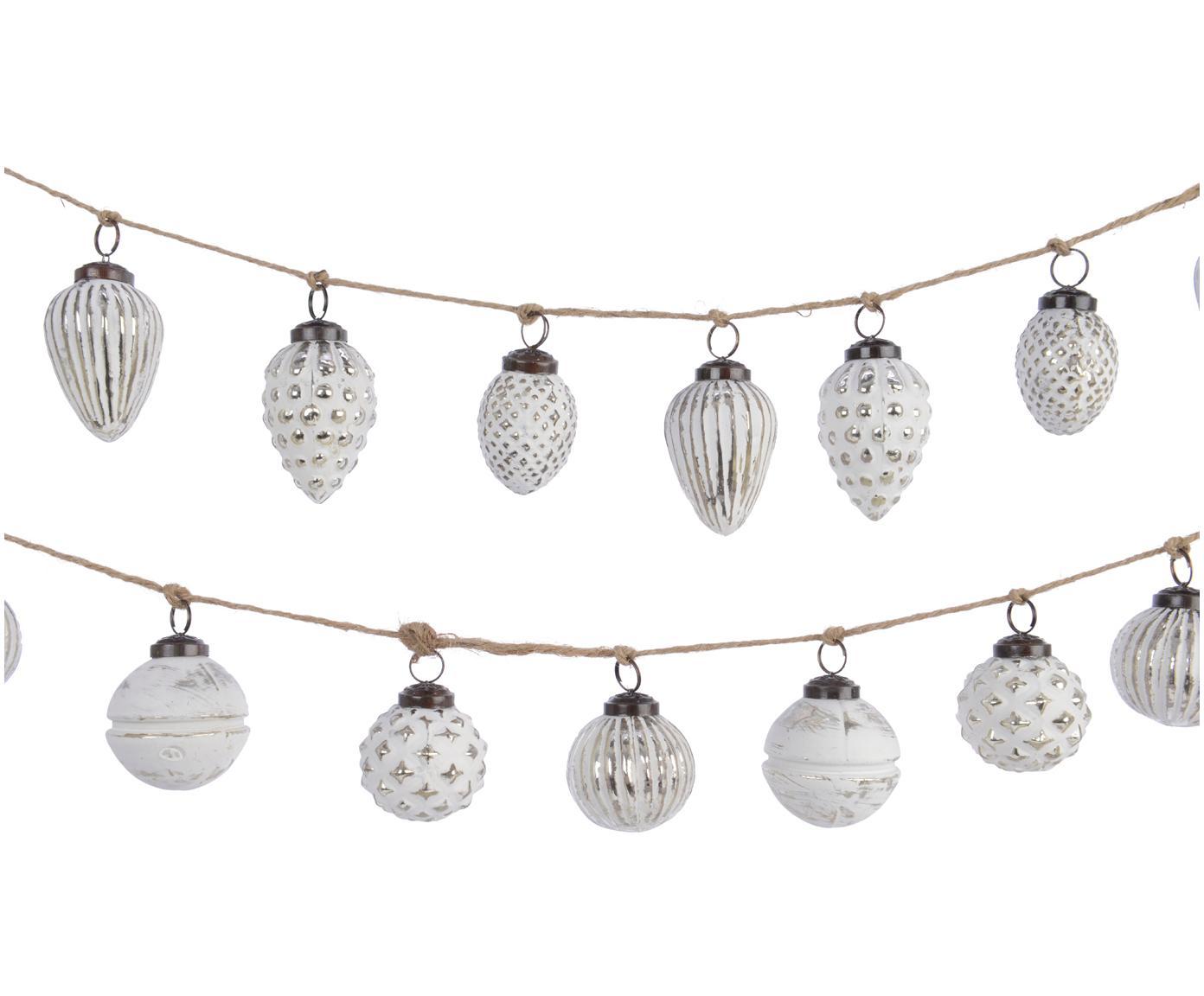 Set de guirnaldas navideñas Dil, 2pzas., Vaso, Blanco, L 120 cm