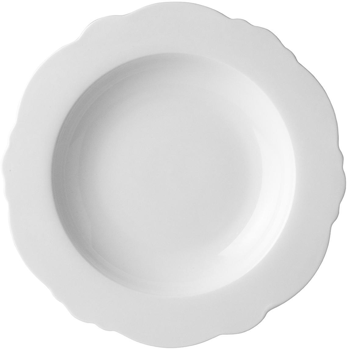 Platos hondos Muschel Loft, 4uds., Porcelana, Blanco, Ø 23 x Al 3 cm