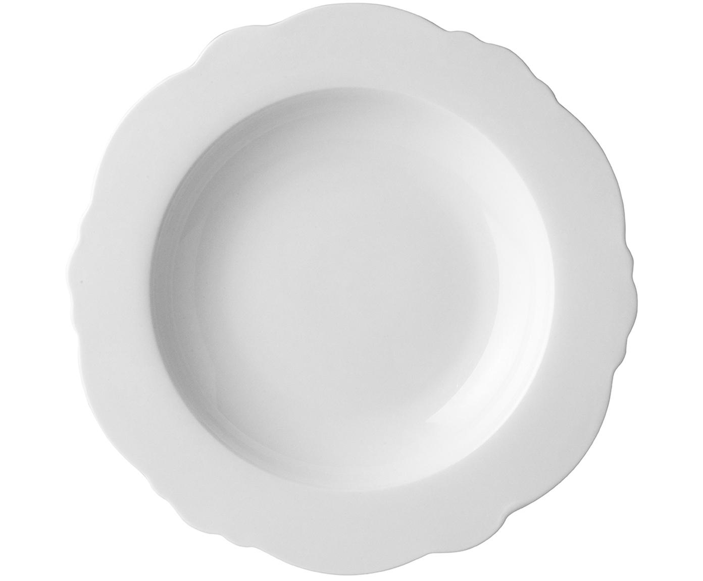 Soepborden Muschel Loft, 4 stuks, Porselein, Wit, Ø 23 x H 3 cm