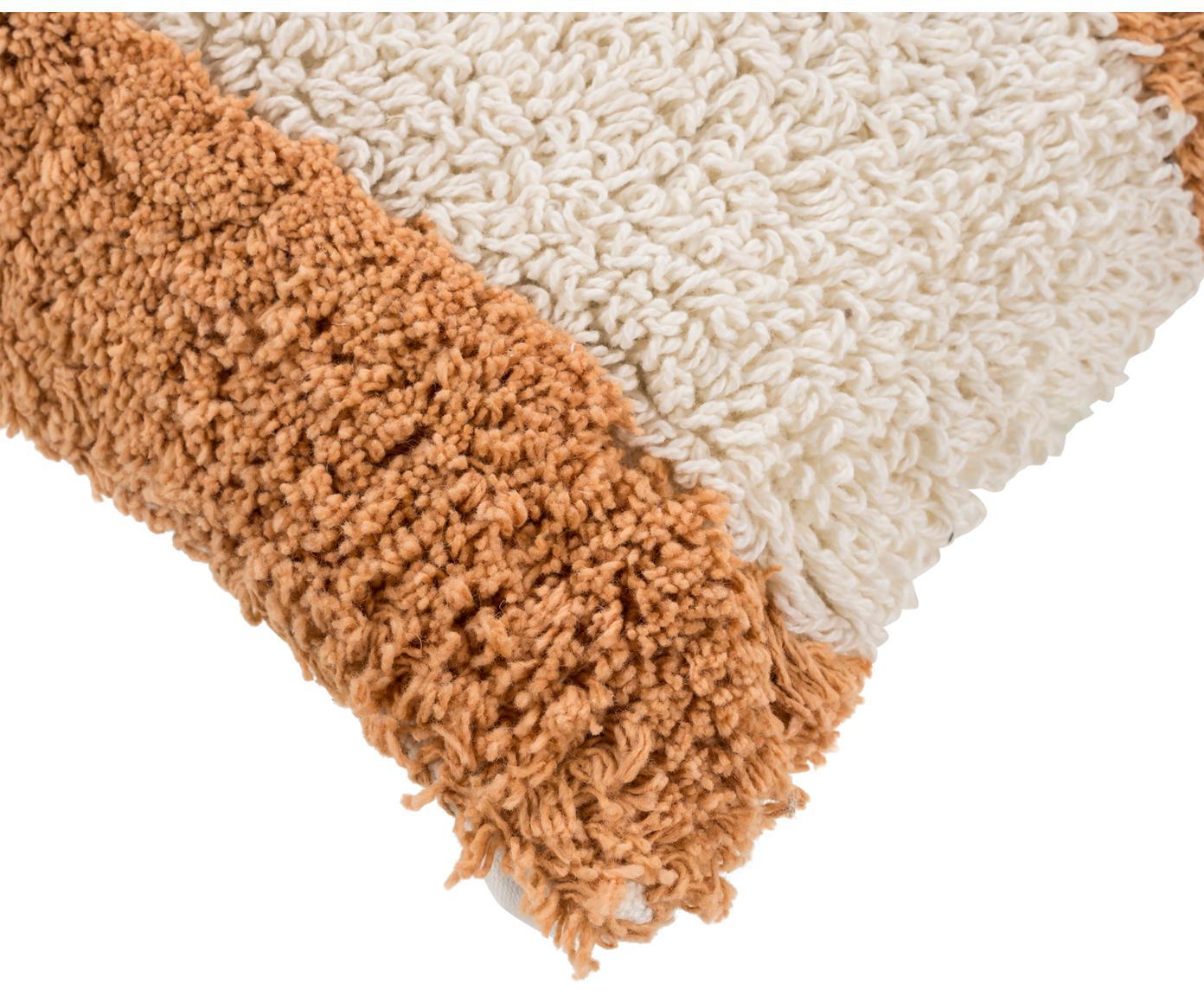 Puszysta poszewka na poduszkę Power, 100% bawełna, Pomarańczowy, złamana biel, S 30 x D 50 cm