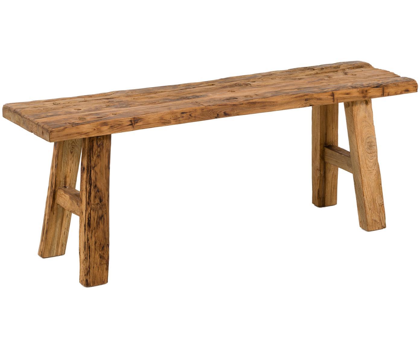 Ławka z litego drewna tekowego Decorative, Naturalne drewno tekowe, Drewno tekowe, S 120 x W 45 cm