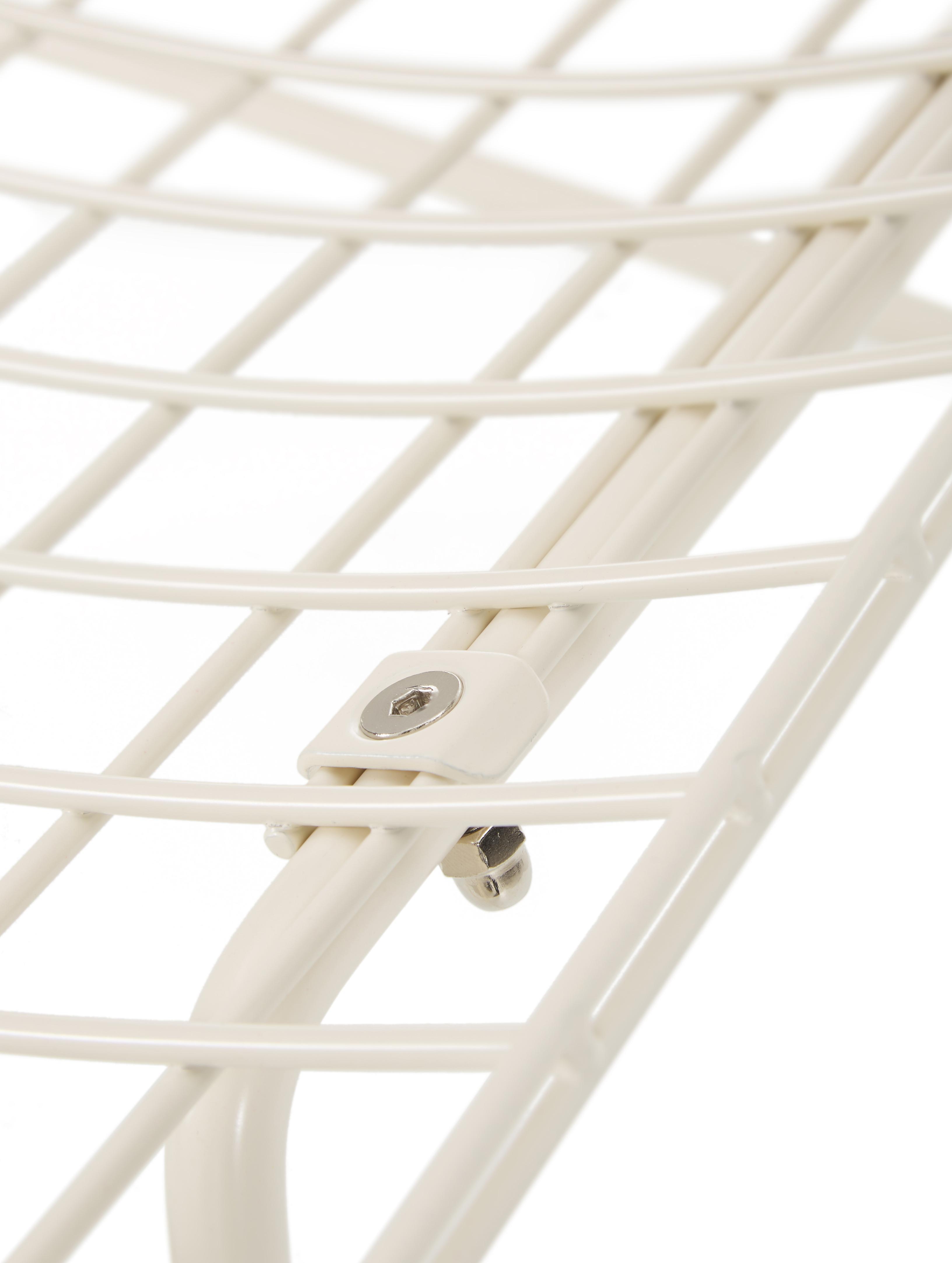 Metall-Stuhl Wire in Cremeweiß, Metall, pulverbeschichtet, Cremeweiß, B 47 x T 54 cm