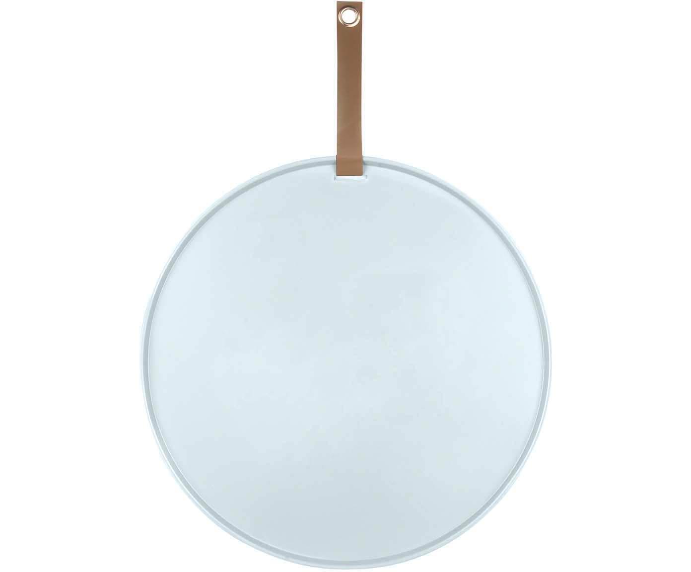 Prikbord Perky, Gelakt metaal, Wit, bruin, Ø 50 x T 1 cm
