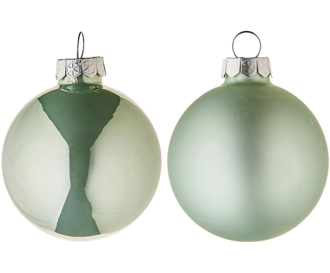 Kerstballenset Evergreen, 10-delig, Groen, Ø 6 cm
