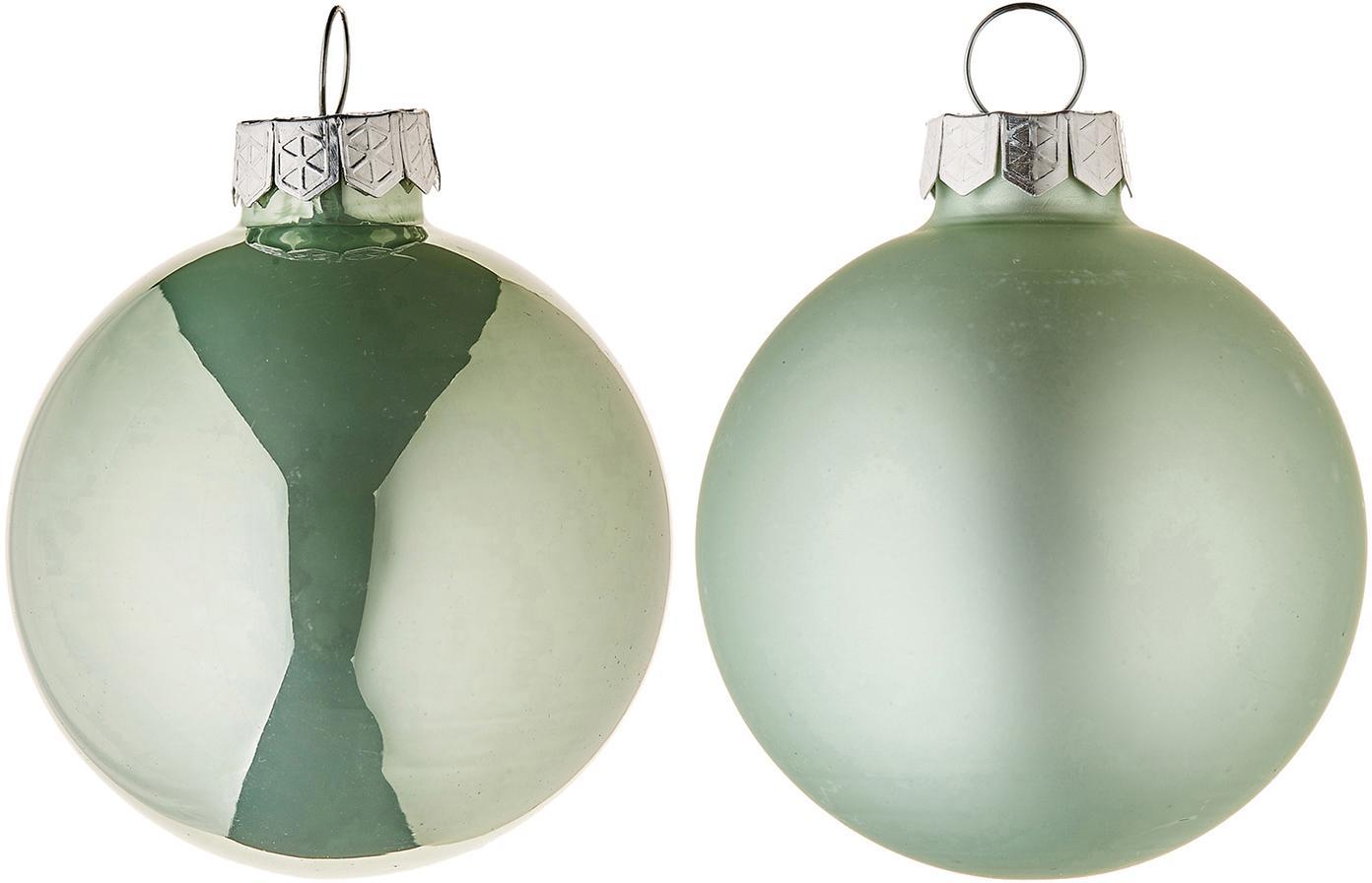 Set de bolas de Navidad Evergreen, Ø6cm, 10pzas., Verde, Ø 6 cm