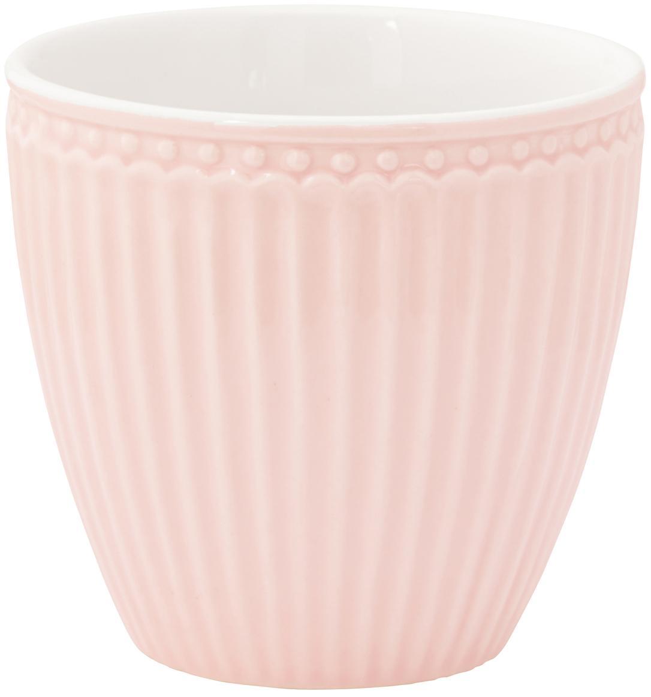 Kubek Alice, 2 szt., Porcelana, Blady różowy, Ø 10 x W 9 cm