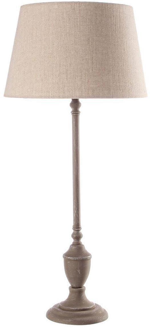 Lámpara de mesa Marna, Pantalla: lino, Beige, beige oscuro, Ø 30 x Al 66 cm