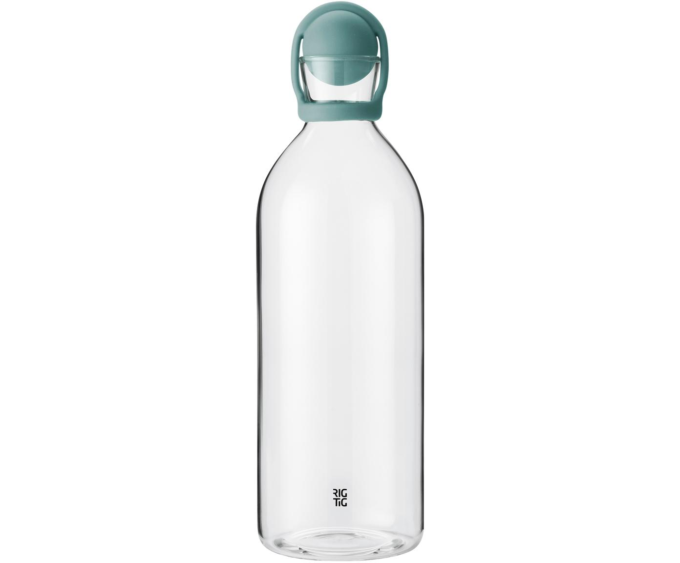 Botella para agua Cool-It, Botella: vidrio, Turquesa transparente, 1.5 L