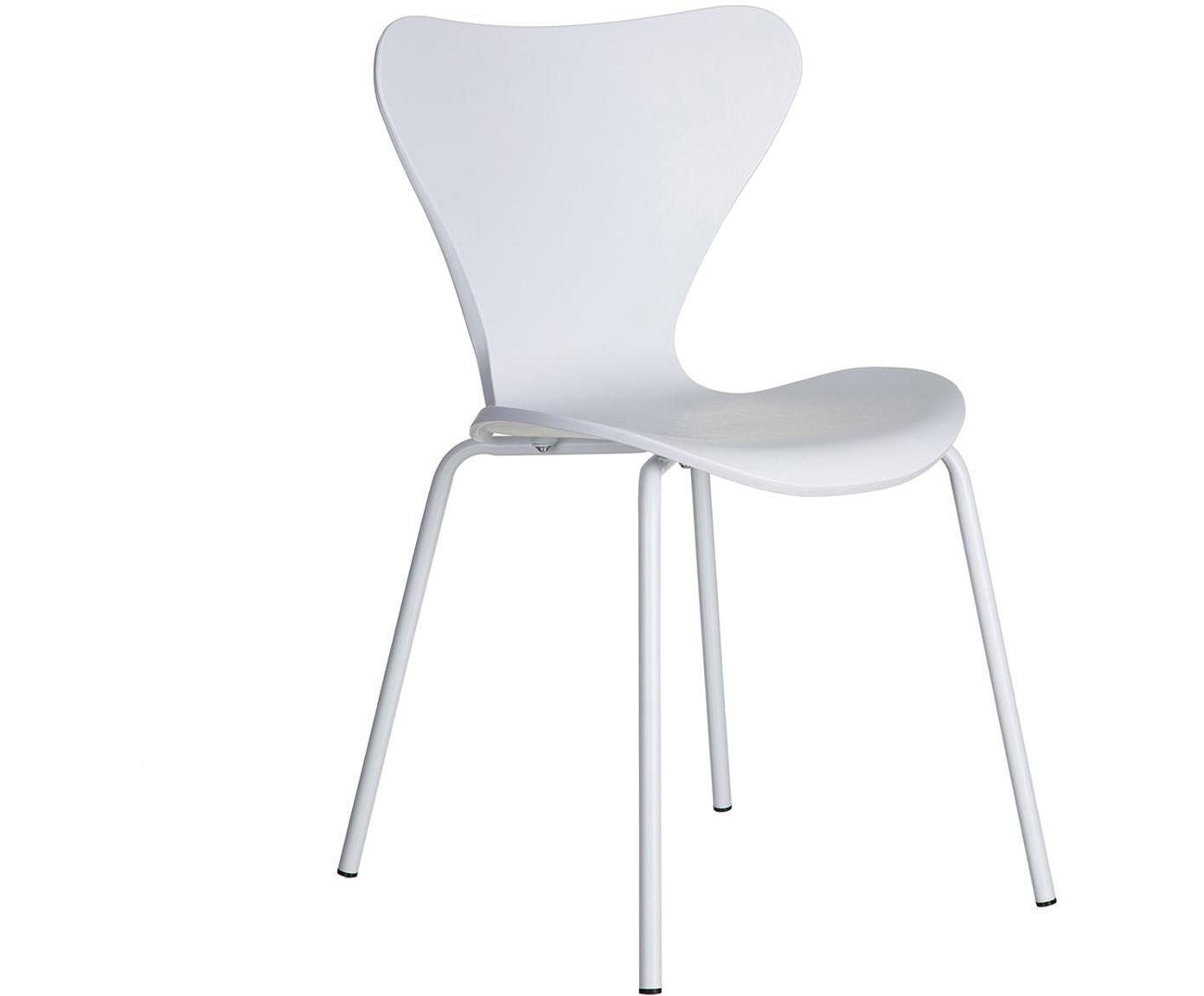 Silla Stapler, Asiento: plástico, Patas: metal, Blanco, An 47 x Al 83 cm
