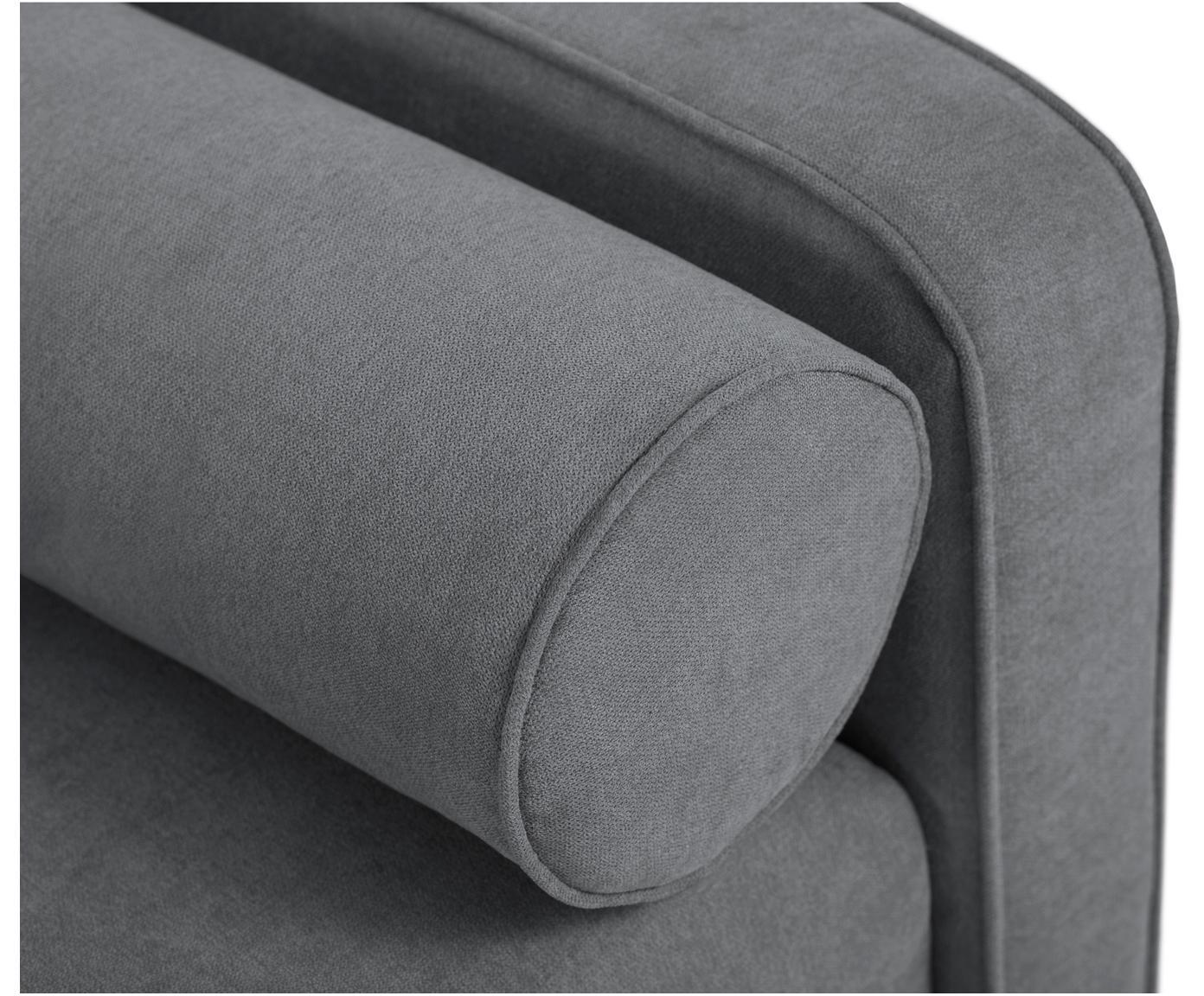 Sofa rozkładana z aksamitu Alessia (3-osobowa), Tapicerka: poliester, Nogi: drewno bukowe, lakierowan, Ciemny szary, S 212 x G 93 cm