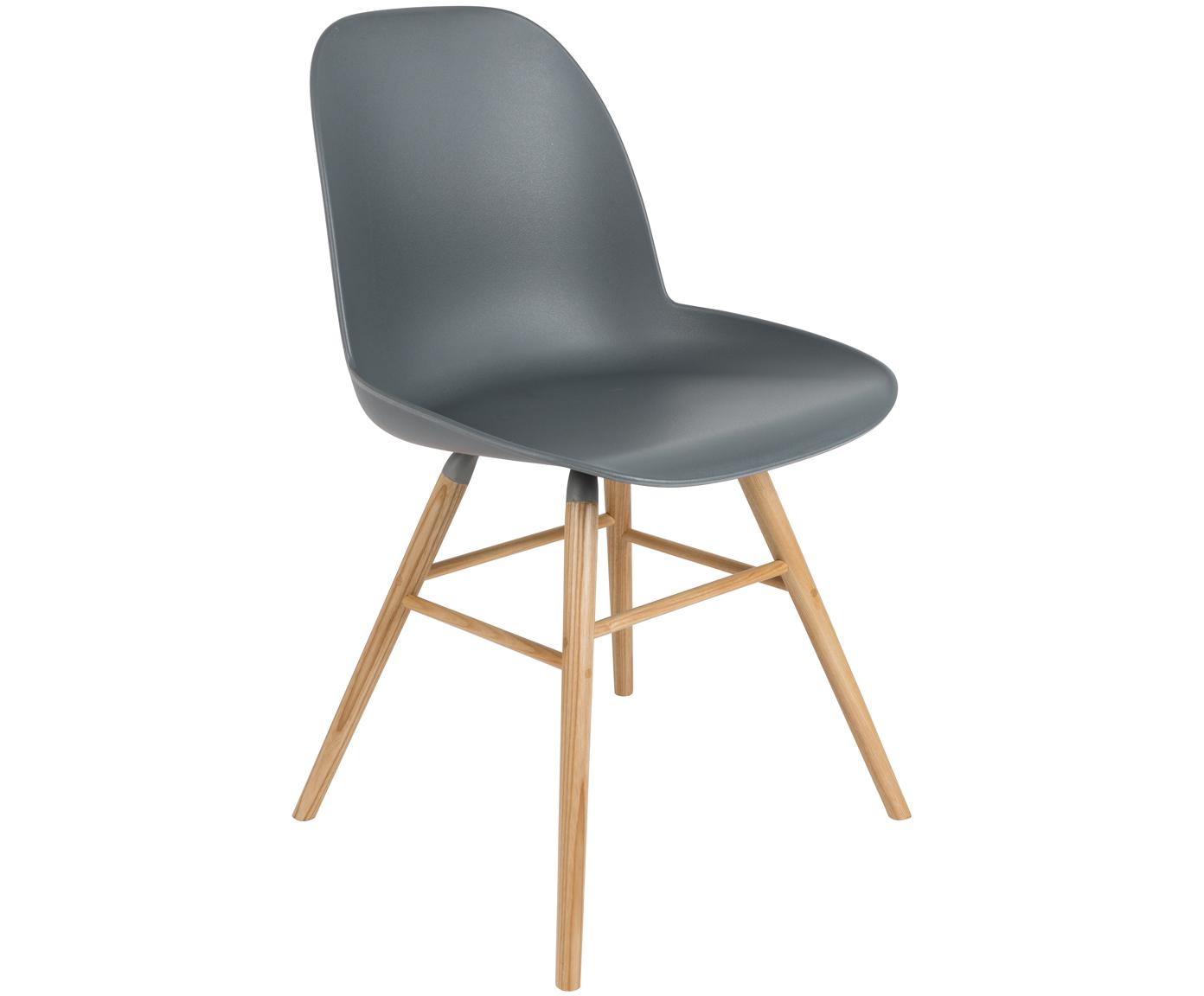 Sedia Albert Kuip, Seduta: 100% polipropilene, Piedini: legno di frassino, Grigio-blu, Larg. 49 x Prof. 55 cm