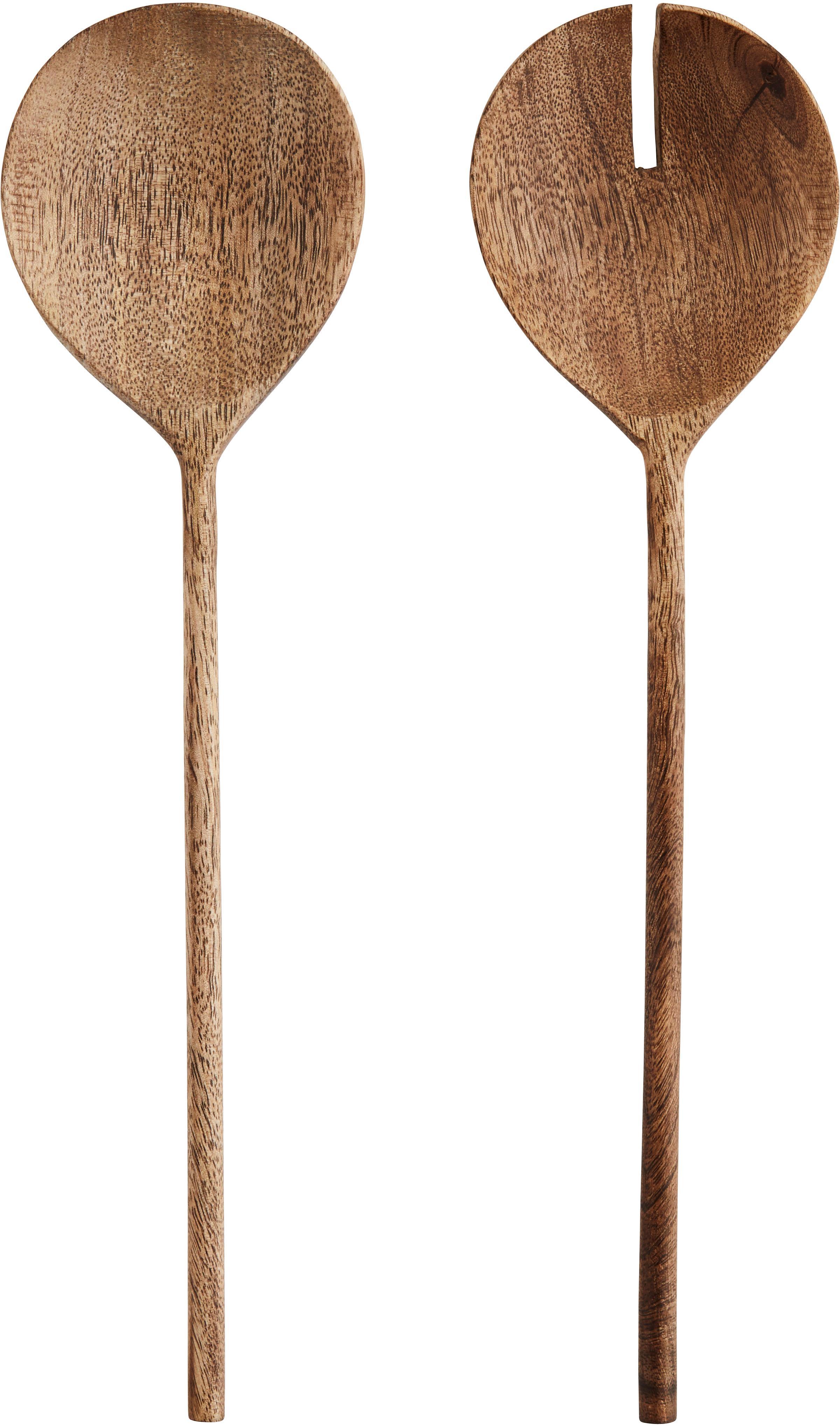 Komplet sztućców do sałatek Wodeen, 2 elem., Drewno mangowe, Drewno mangowe, D 28