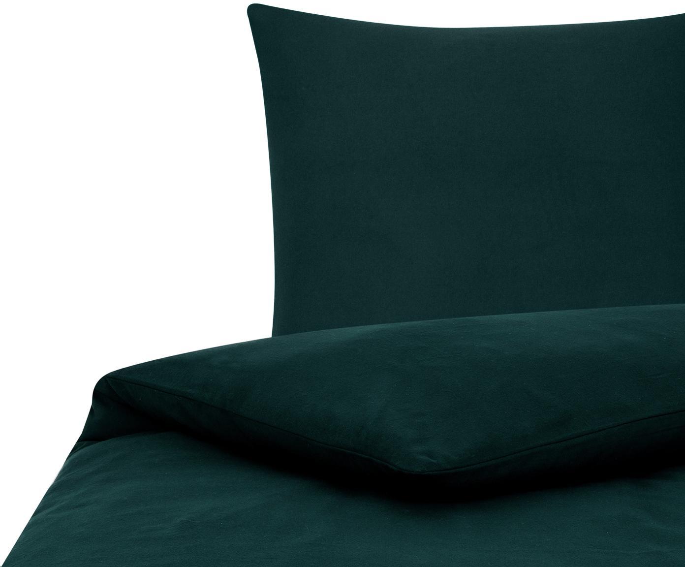 Pościel z flaneli Biba, Zielony, 135 x 200 cm