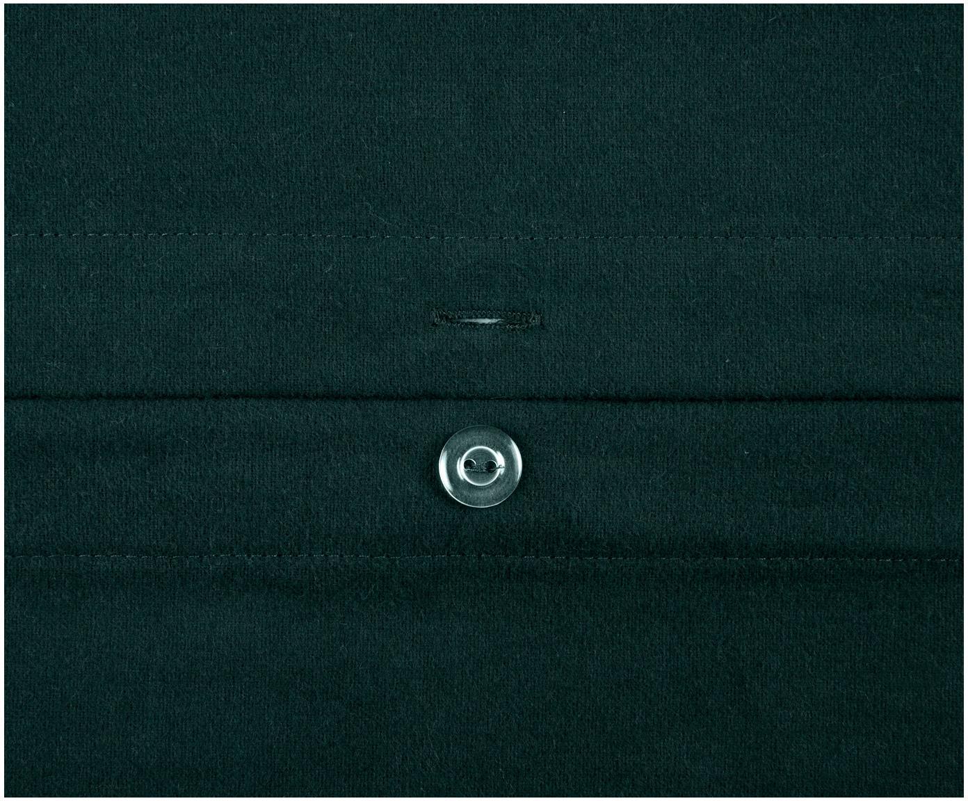 Pościel z flaneli Biba, Zielony, 240 x 220 cm