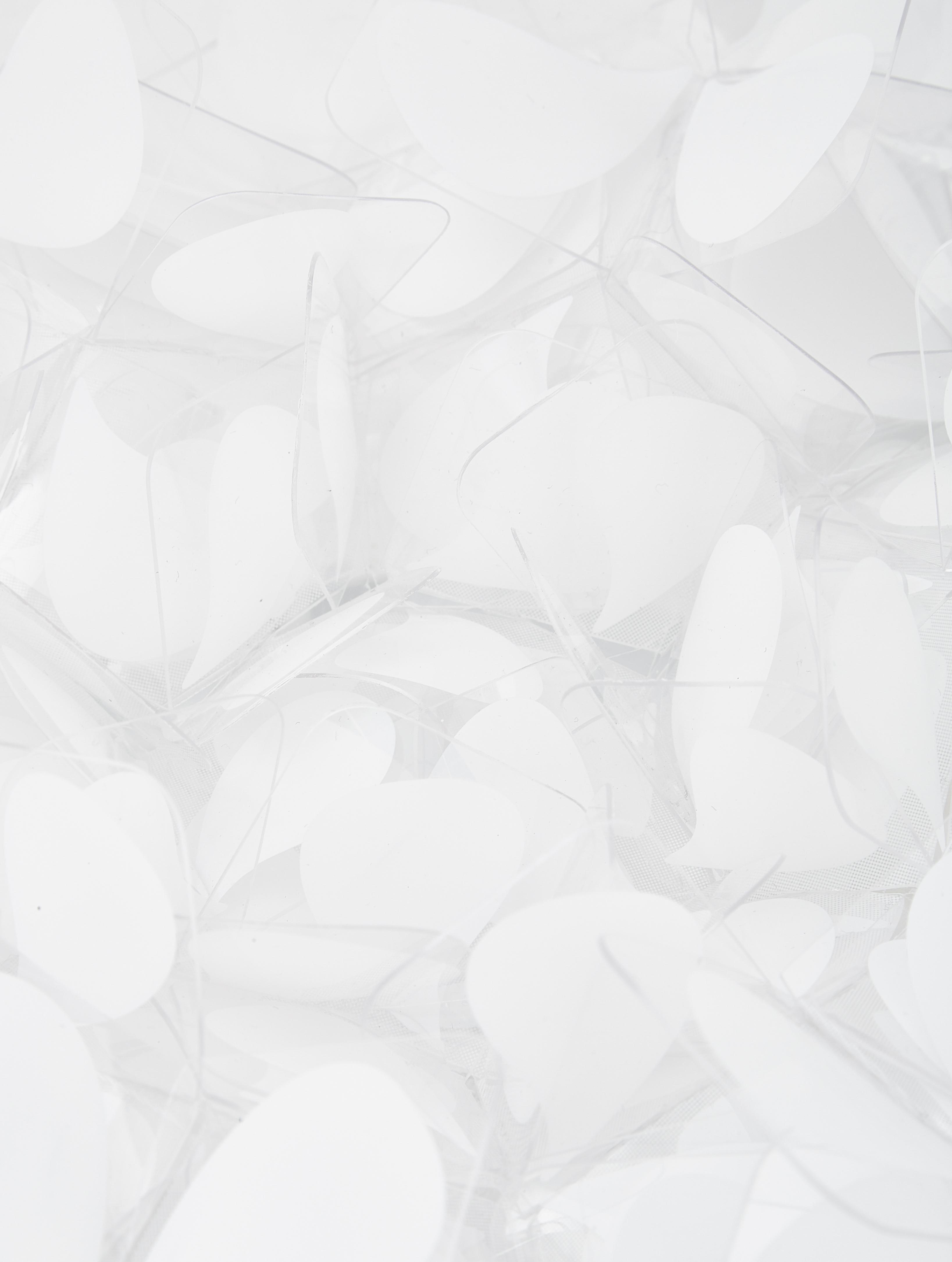 Lampada da parete e soffitto Clizia Mama Non Mama, Tecnopolimero Opalflex®, riciclabile, infrangibile, flessibile, con rivestimento antistatico, resistente ai raggi UV e al calore, Bianco, grigio, Ø 53 x Prof. 20 cm