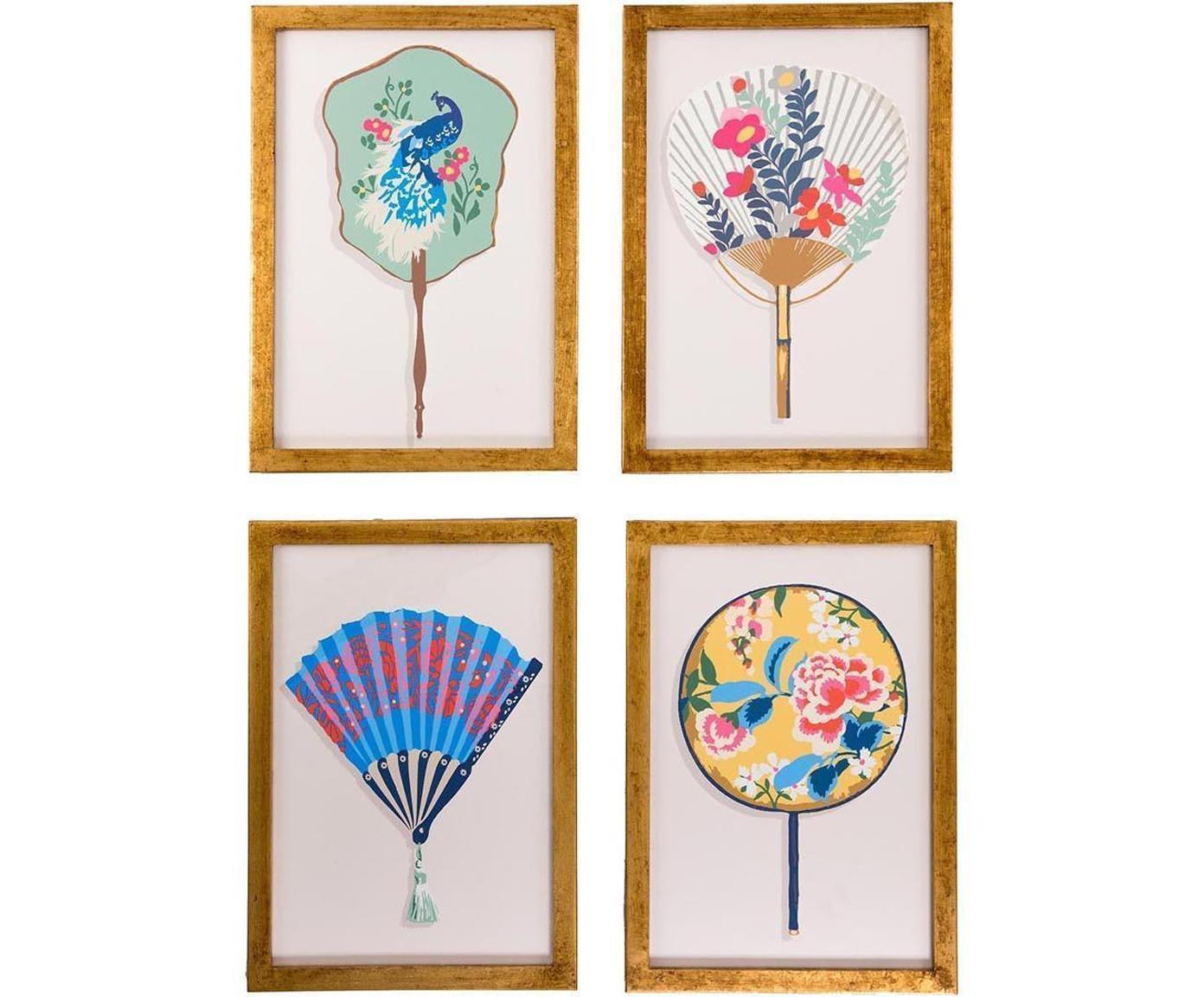 Set de cuadros Bali, 4pzas., Multicolor, An 35 x Al 50 cm