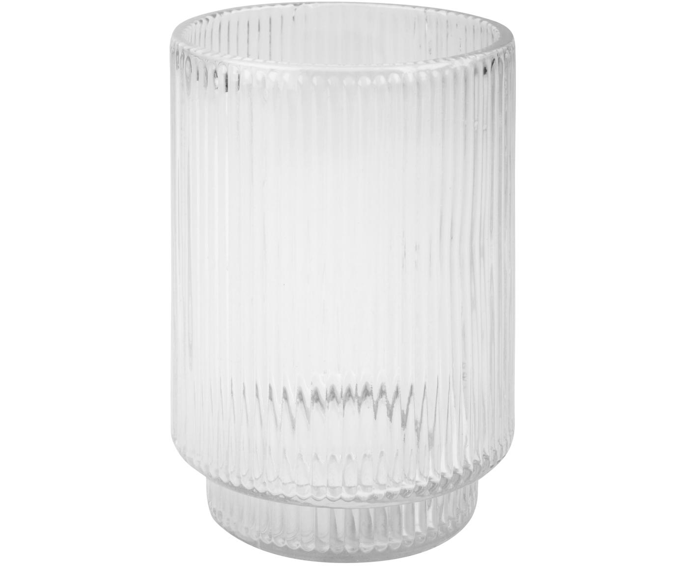 Vaso cepillo de dientes Ligia, Vidrio, Transparente, Ø 6 x Al 11 cm