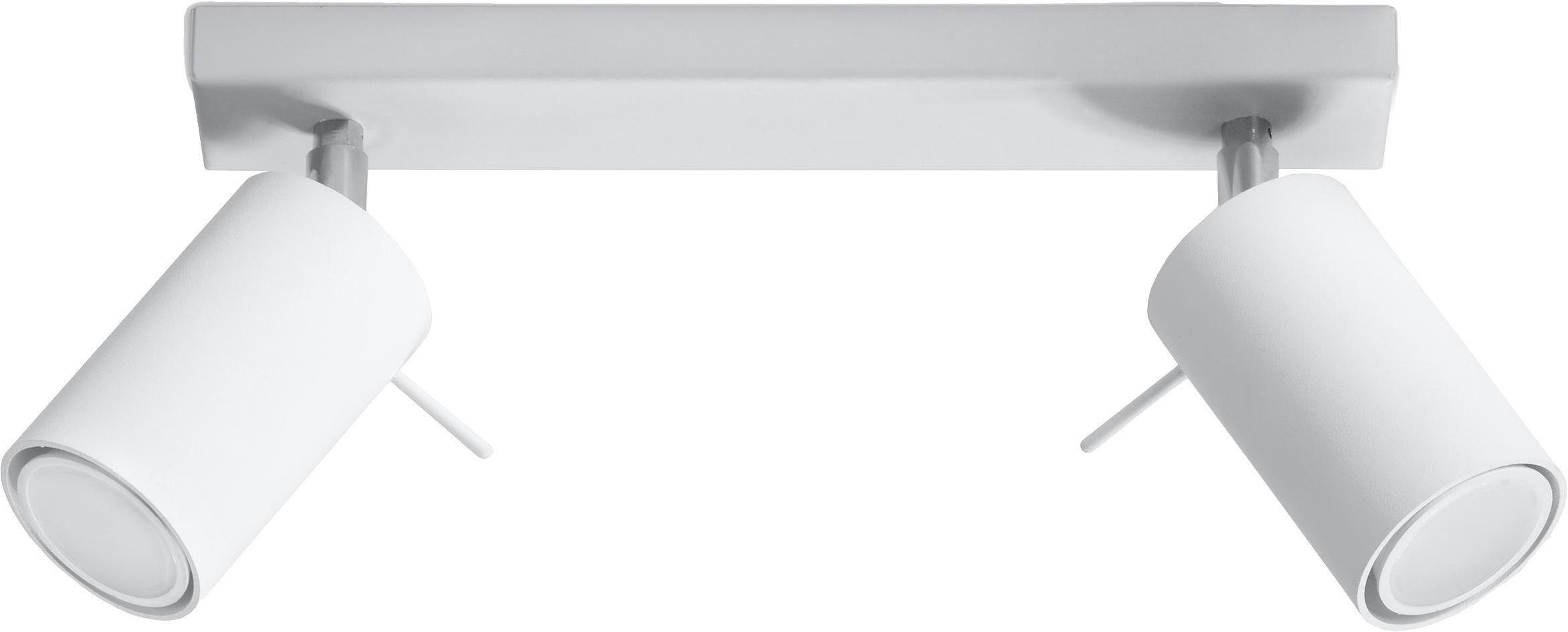 Deckenstrahler Etna in Weiß, Stahl, lackiert, Weiß, 30 x 15 cm