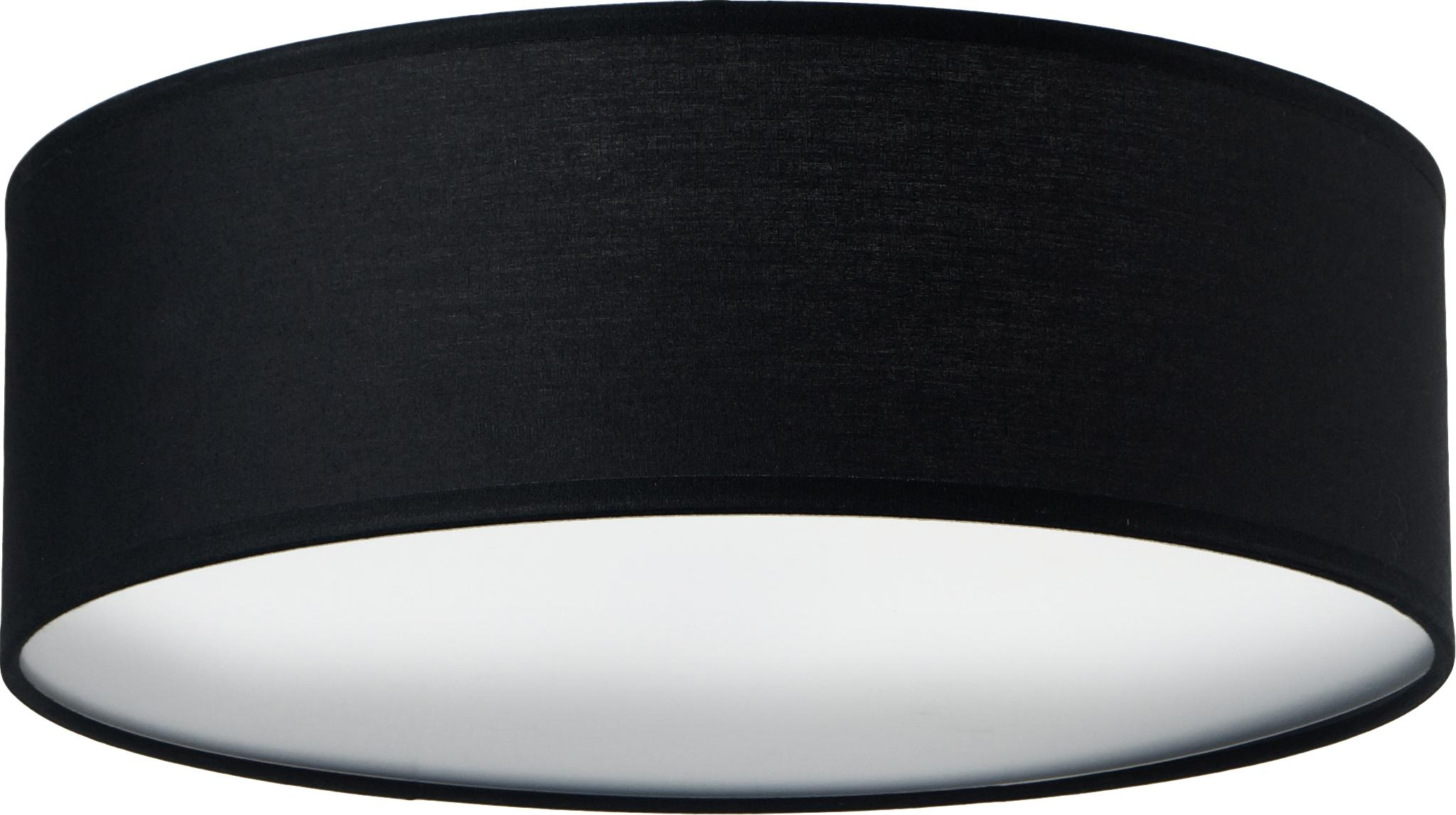 Plafoniera Mika, Nero, Ø 30 x Alt. 10 cm