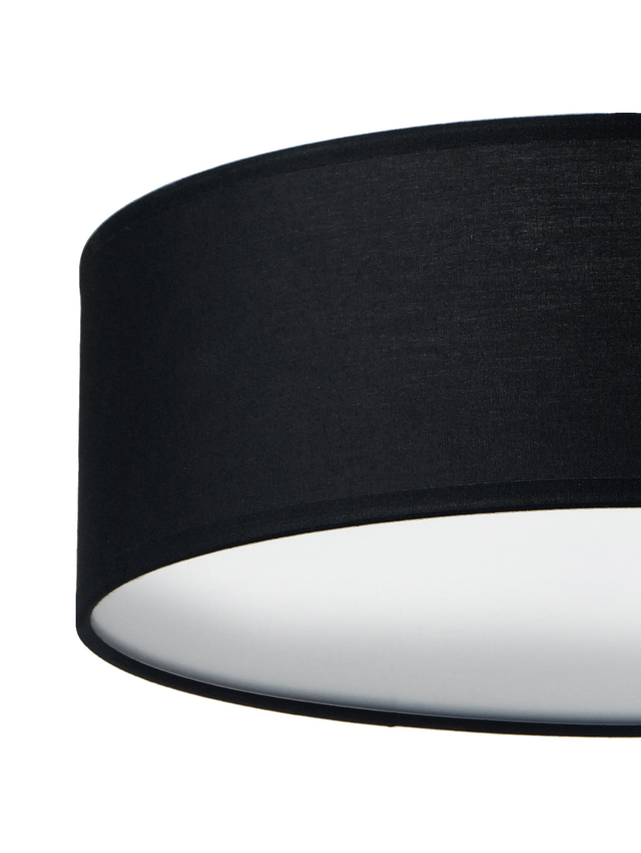 Handgefertigte Deckenleuchte Mika, Schwarz, Ø 30 x H 10 cm