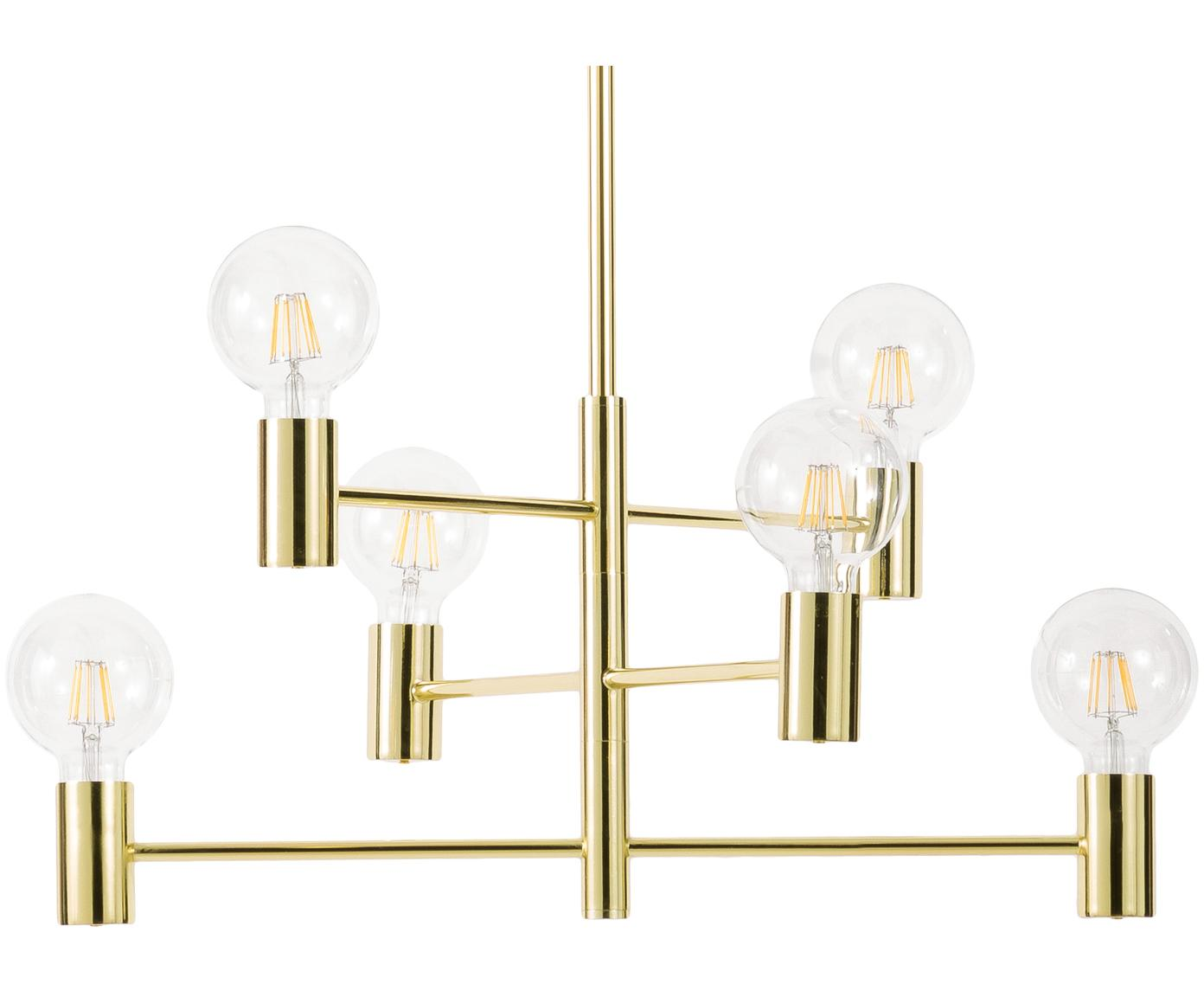 Lámpara de techo Capital, Metal, latón, Latón, Ø 63 cm