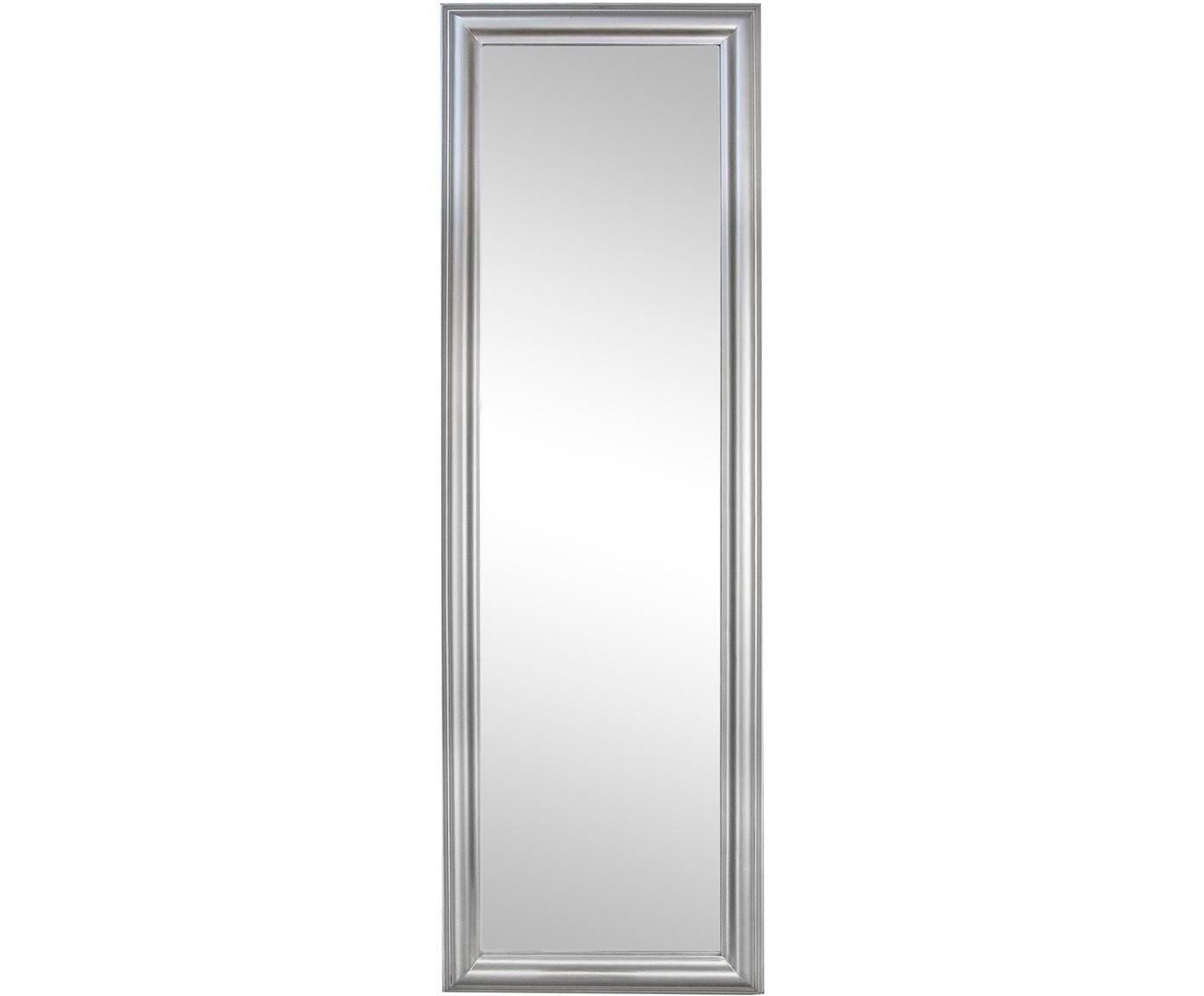 Specchio da parete Sanzio, Cornice: legno rivestito, Superficie dello specchio: lastra di vetro, Argentato, Larg. 42 x Alt. 132 cm