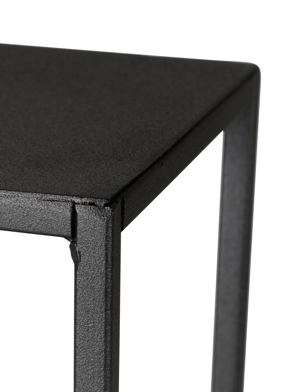 Schwarzes Metall-Wandregal Expo, Metall, pulverbeschichtet, Schwarz, 61 x 61 cm