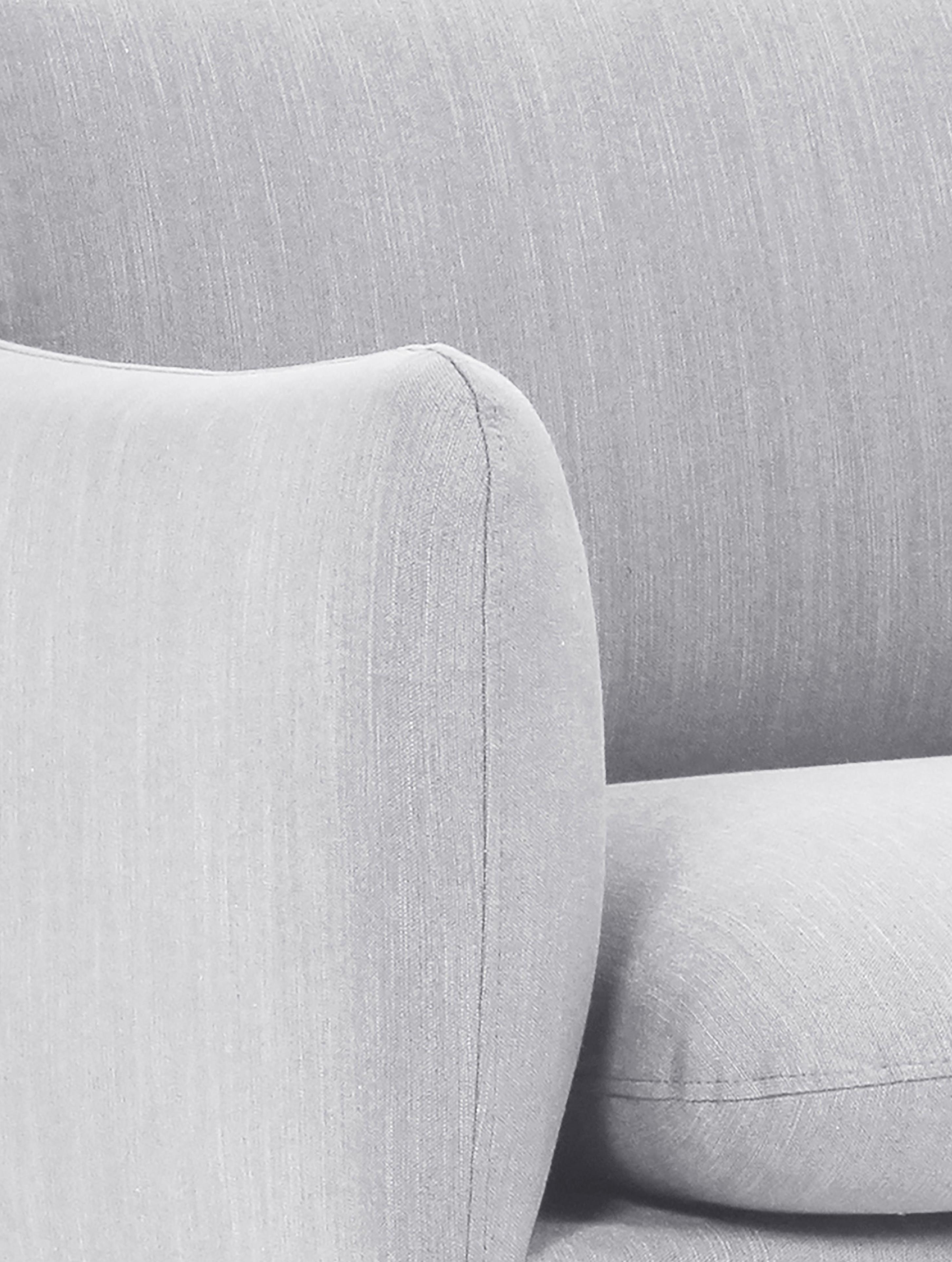 Fauteuil Moby, Revêtement: gris clair Pieds: noir