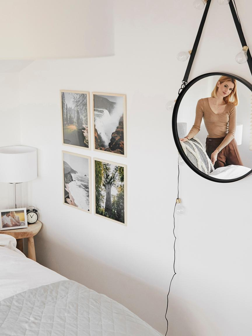Guirnalda de luces LED Bulb, 360cm, Cable: plástico, Transparente, dorado, negro, L 360 cm