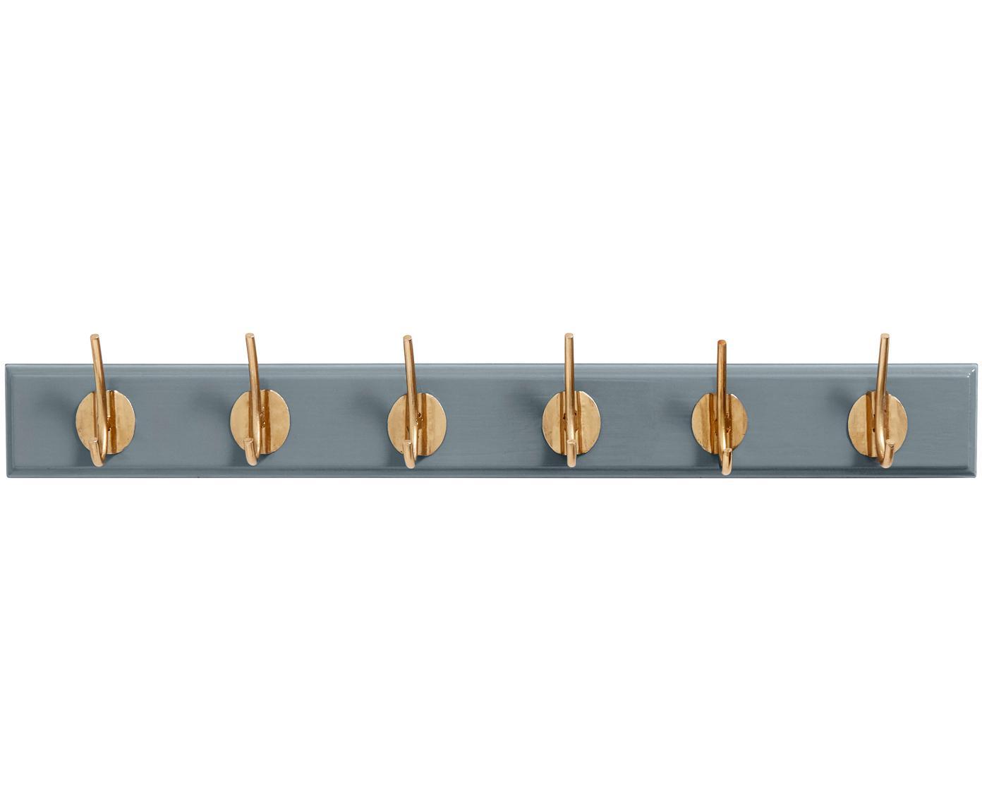 Appendiabiti con ganci in metallo Aoife, Asta: pannelli di fibra a media, Grigio, Larg. 60 x Alt. 7 cm