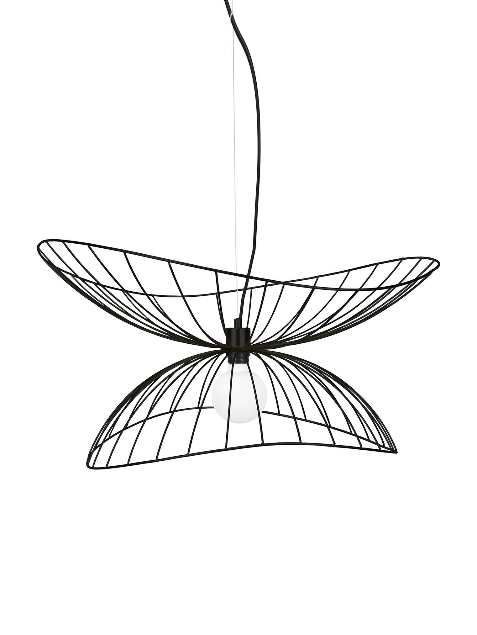 Design hanglamp Ray, Gecoat metaal, Zwart, Ø 70 x H 36 cm